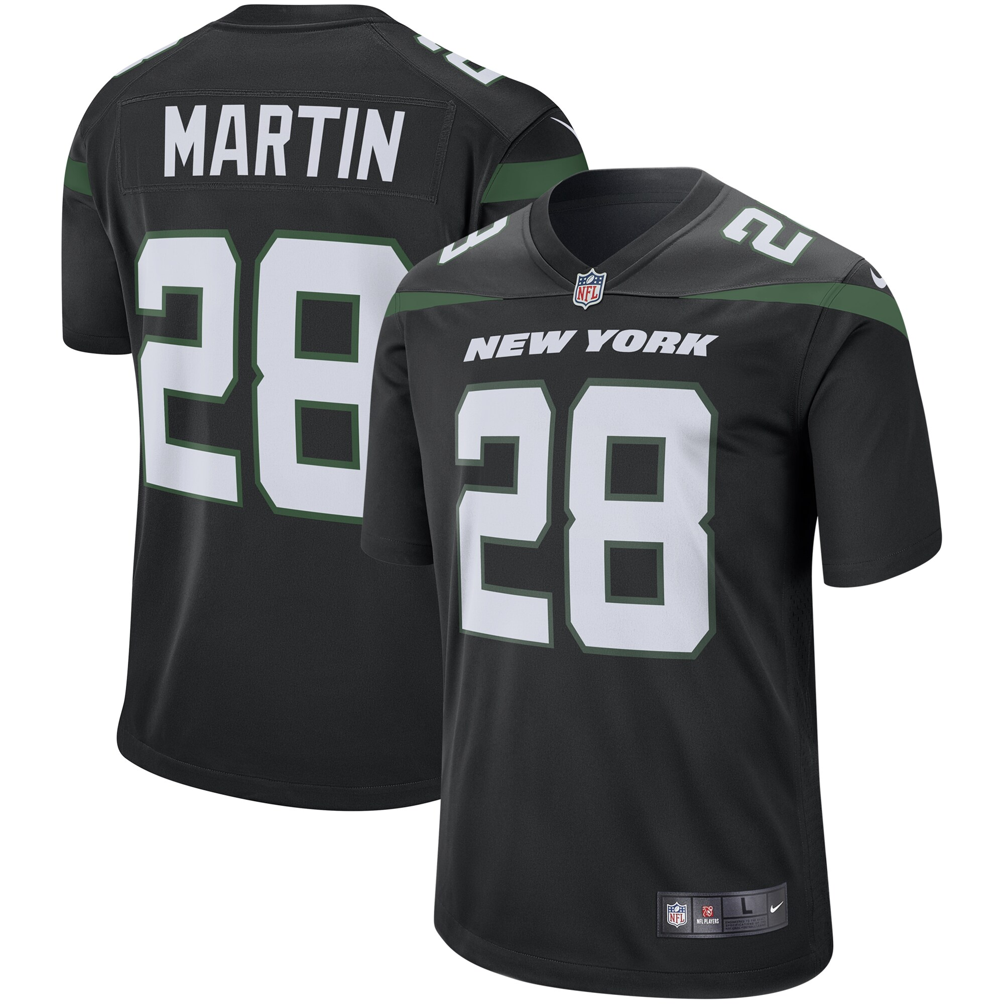 Curtis Martin New York Jets Nike Retired Player Game Jersey - Stealth Black