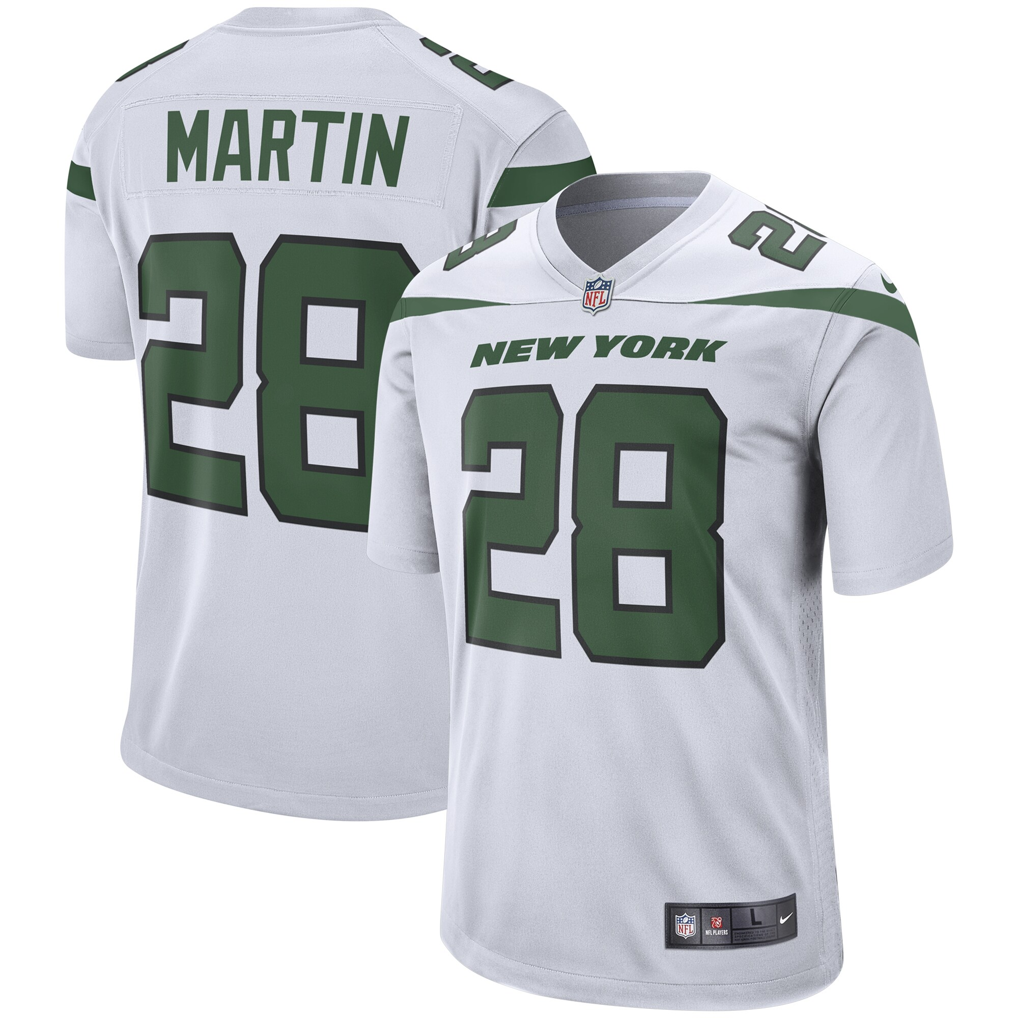 Curtis Martin New York Jets Nike Retired Player Game Jersey - Spotlight White