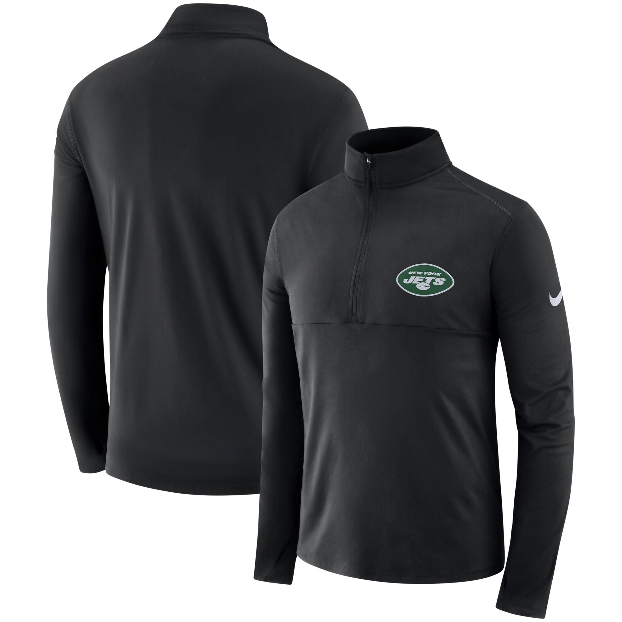 New York Jets Nike Fan Gear Element Core Performance Half-Zip Pullover Jacket - Black