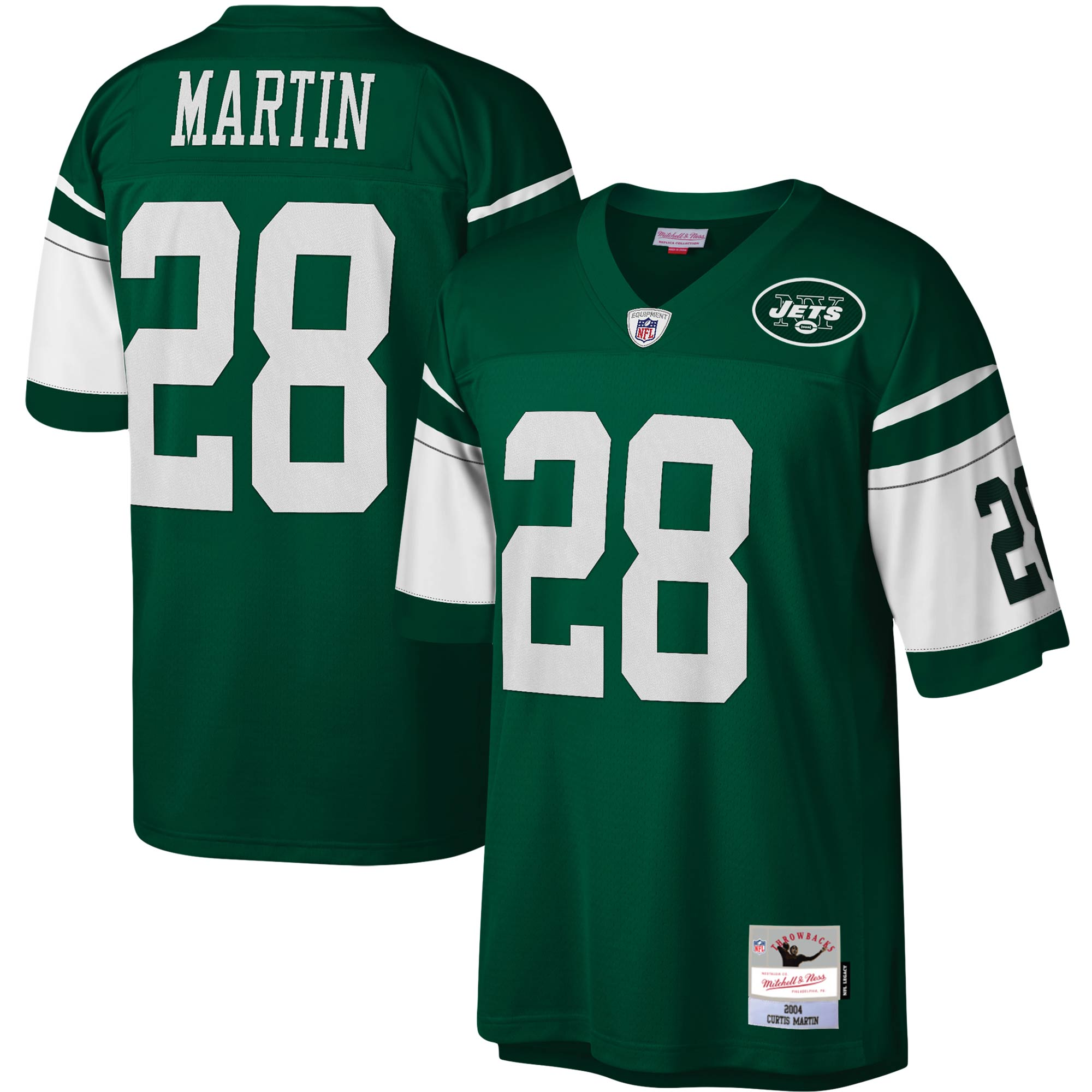 Curtis Martin New York Jets Mitchell & Ness Legacy Replica Jersey - Green