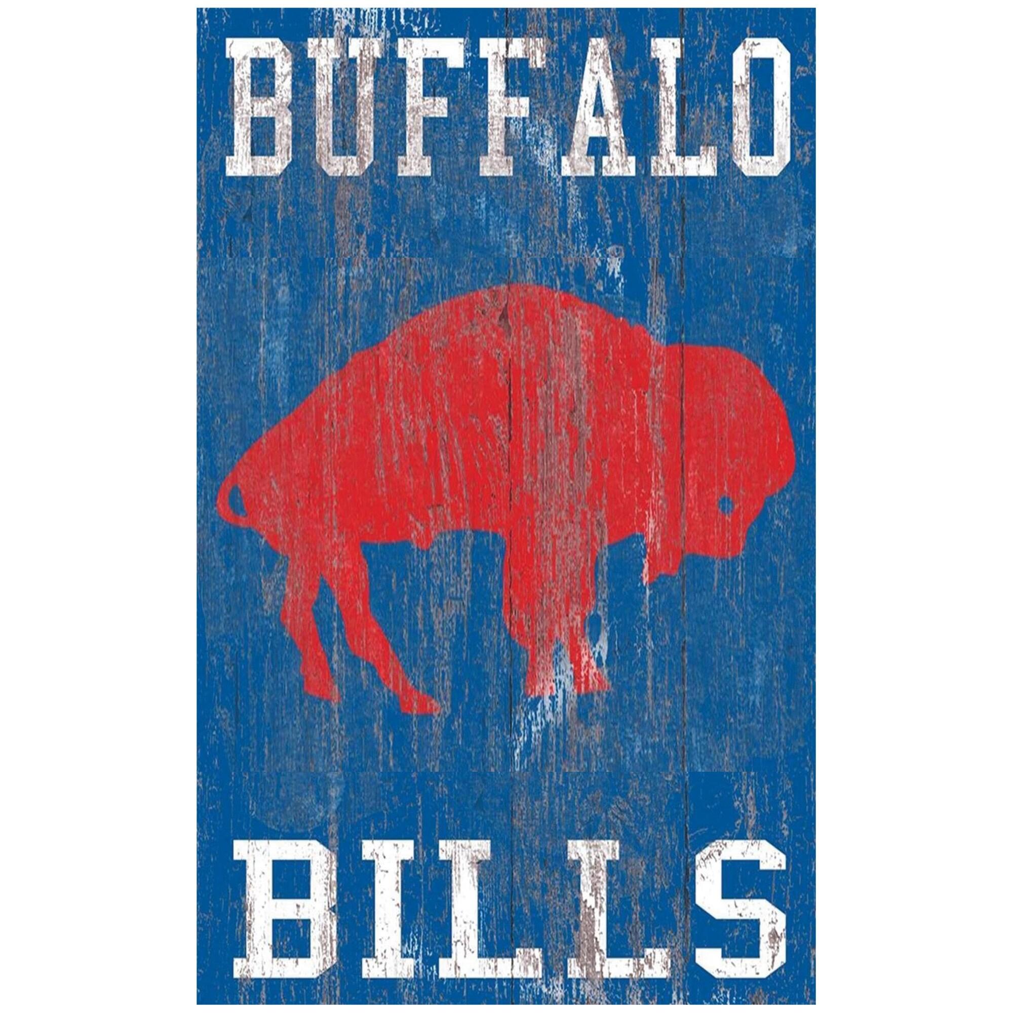 Buffalo Bills 11'' x 19'' Heritage Distressed Logo Sign