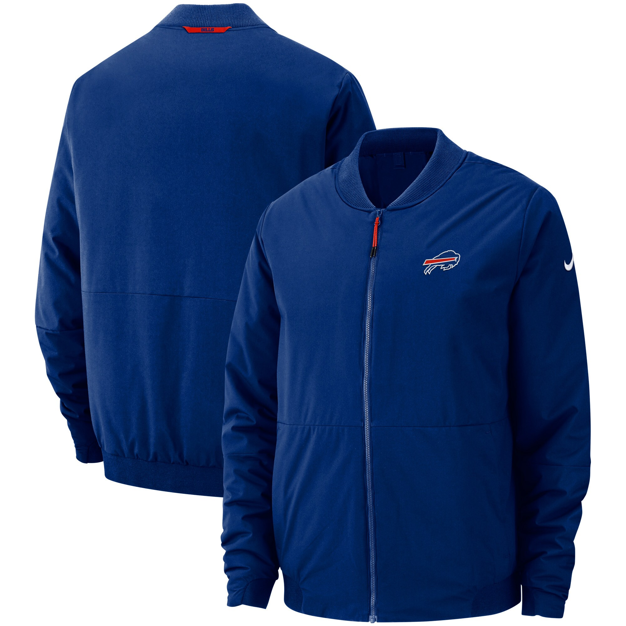 Buffalo Bills Nike Sideline Bomber Full-Zip Jacket - Royal