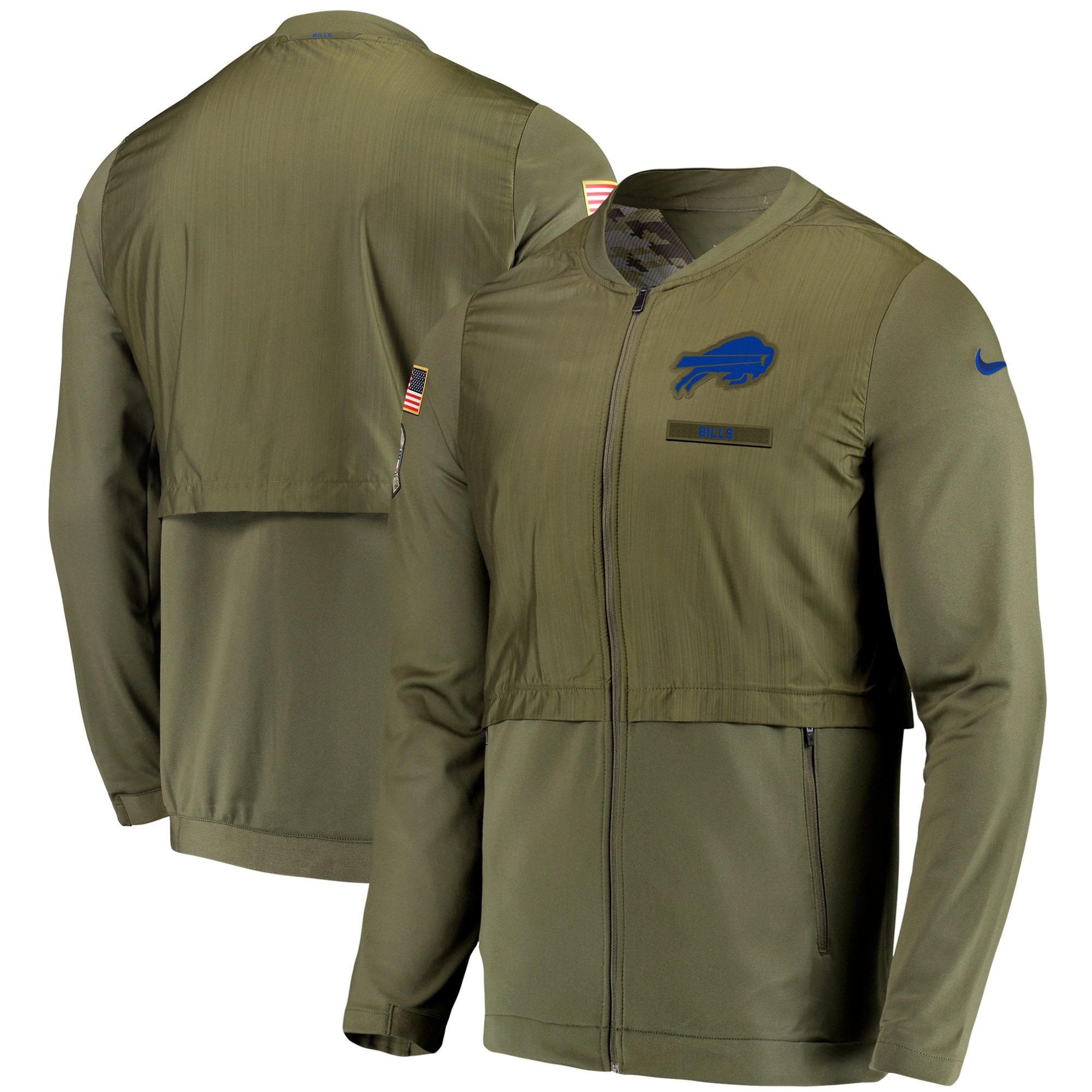 Buffalo Bills Nike Salute to Service Sideline Elite Hybrid Full-Zip Jacket - Olive
