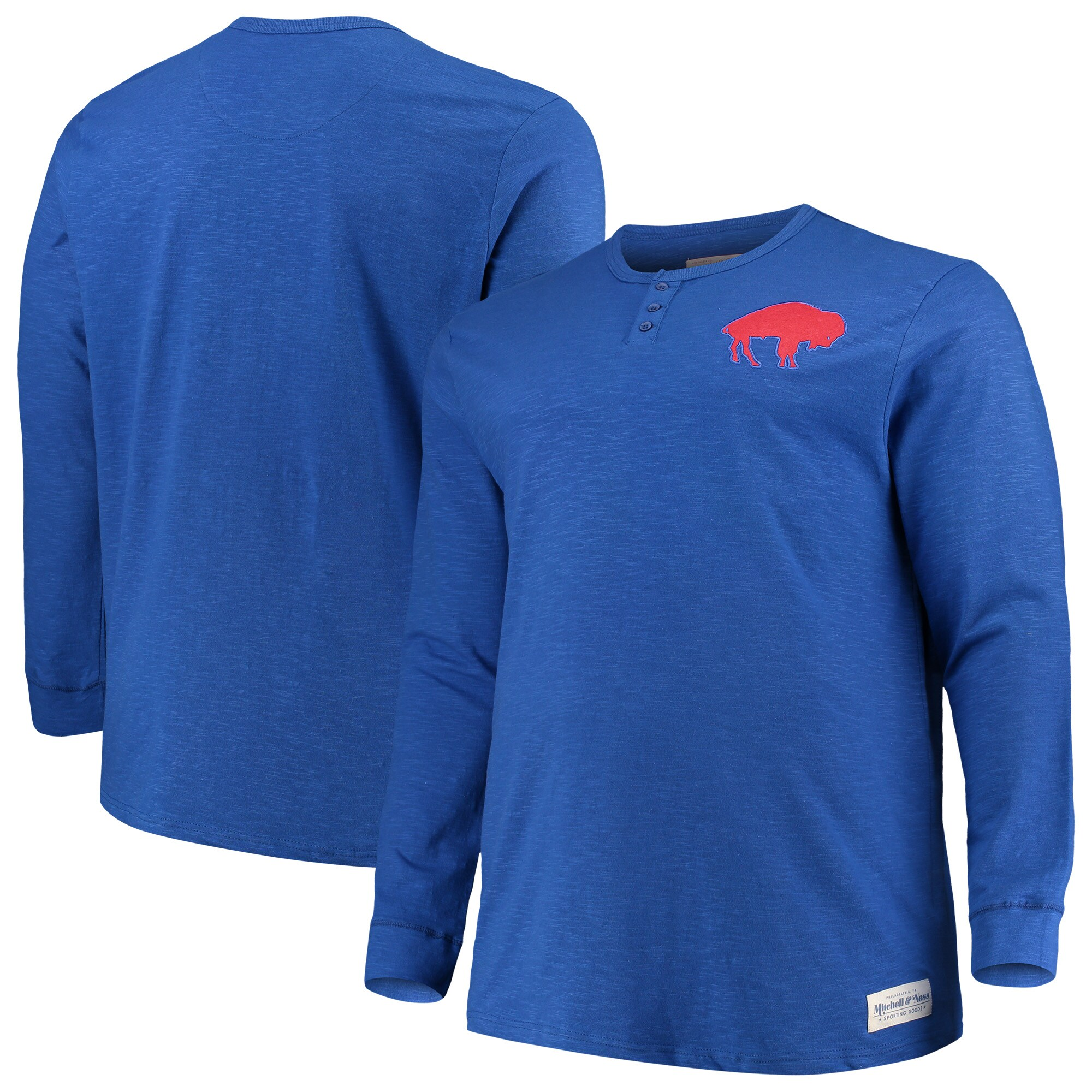 Buffalo Bills Mitchell & Ness Big & Tall First Round Pick Long Sleeve Henley T-Shirt - Royal