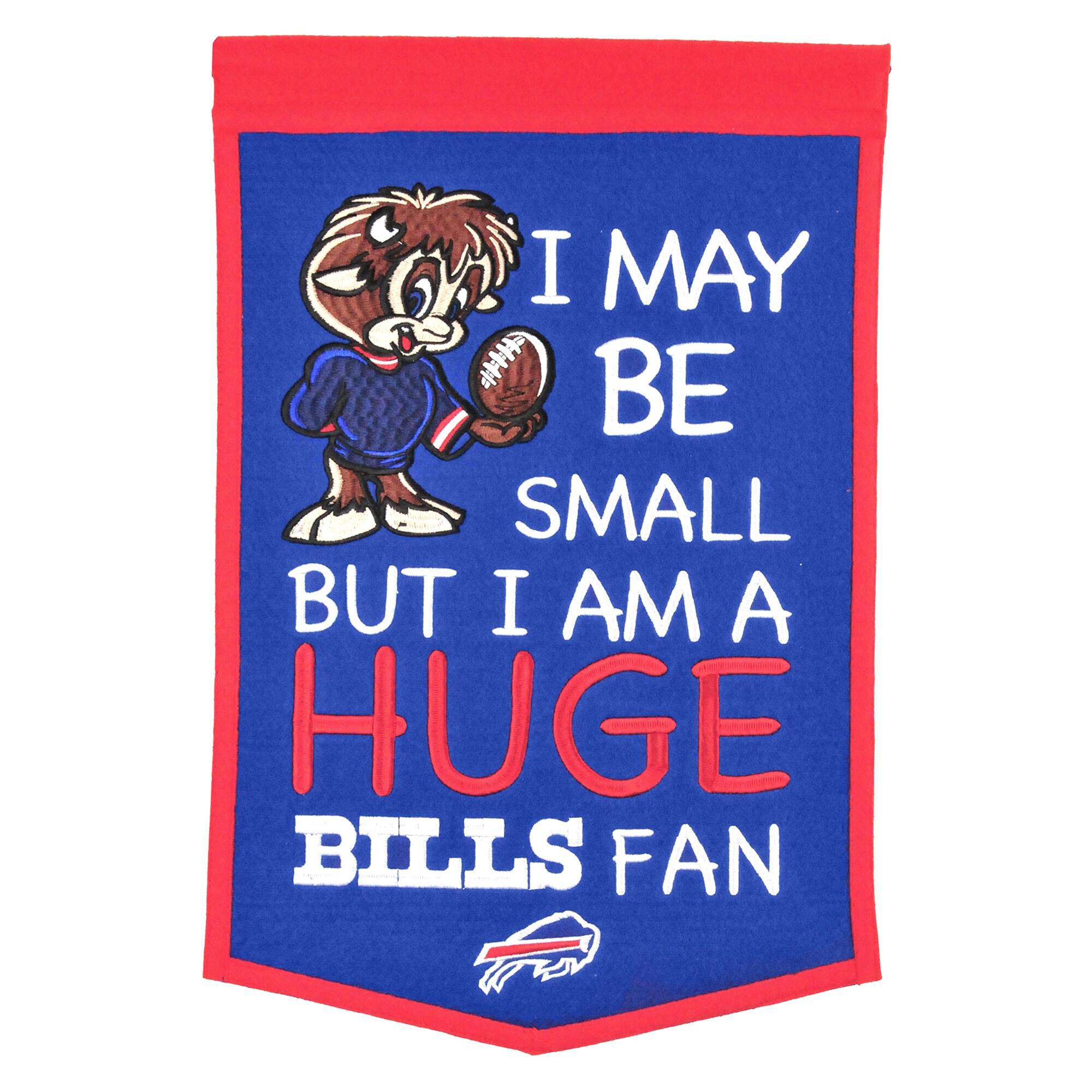 "Buffalo Bills 12"" x 18"" Lil Fan Traditions Banner"