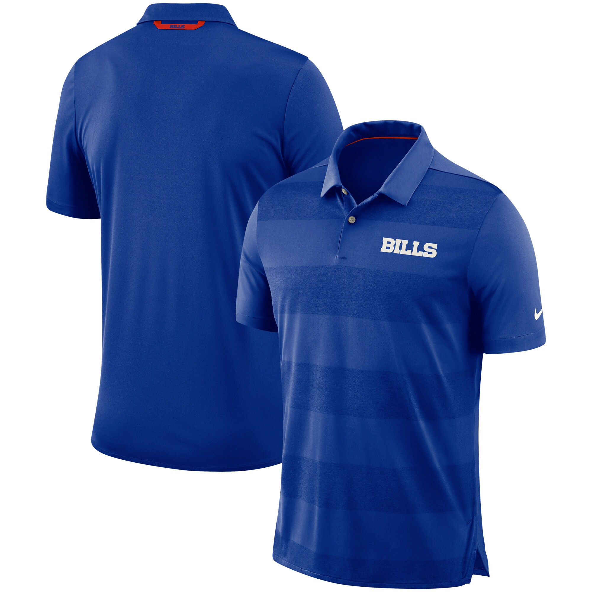 Buffalo Bills Nike Sideline Early Season Wordmark Performance Polo - Royal