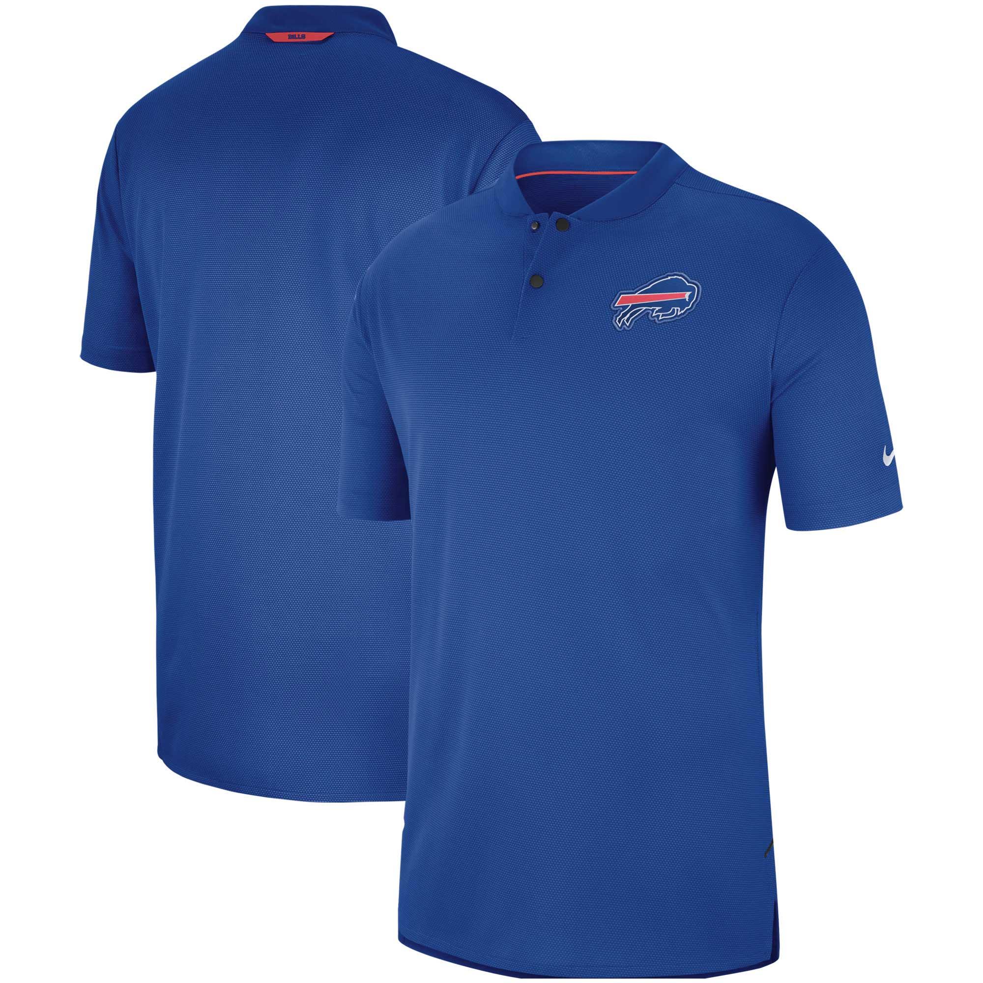 Buffalo Bills Nike Sideline Elite Coaches Performance Polo - Royal