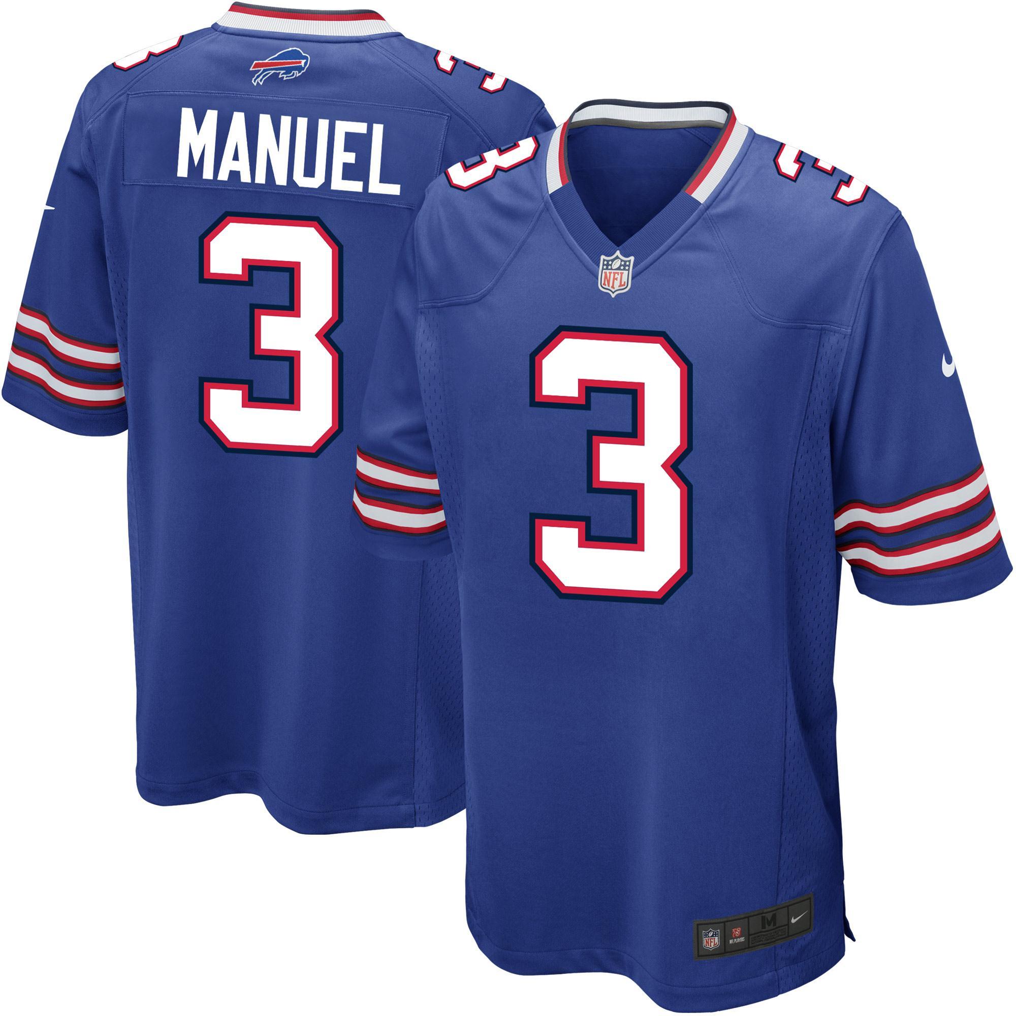 EJ Manuel Buffalo Bills Nike Youth Team Color Game Jersey - Royal Blue