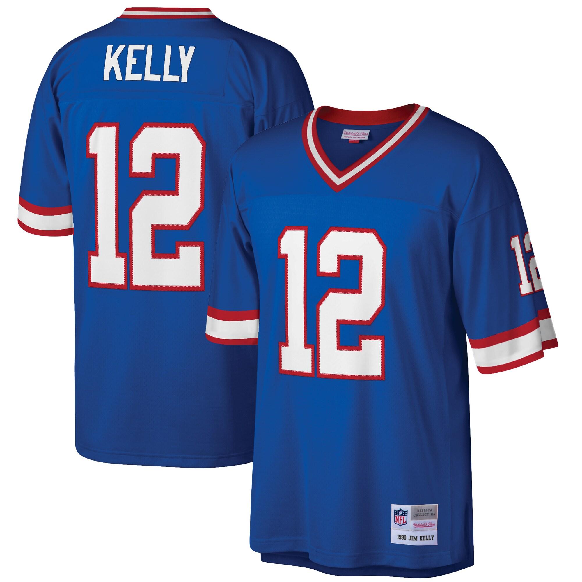 Jim Kelly Buffalo Bills Mitchell & Ness Retired Player Legacy Replica Jersey - Royal