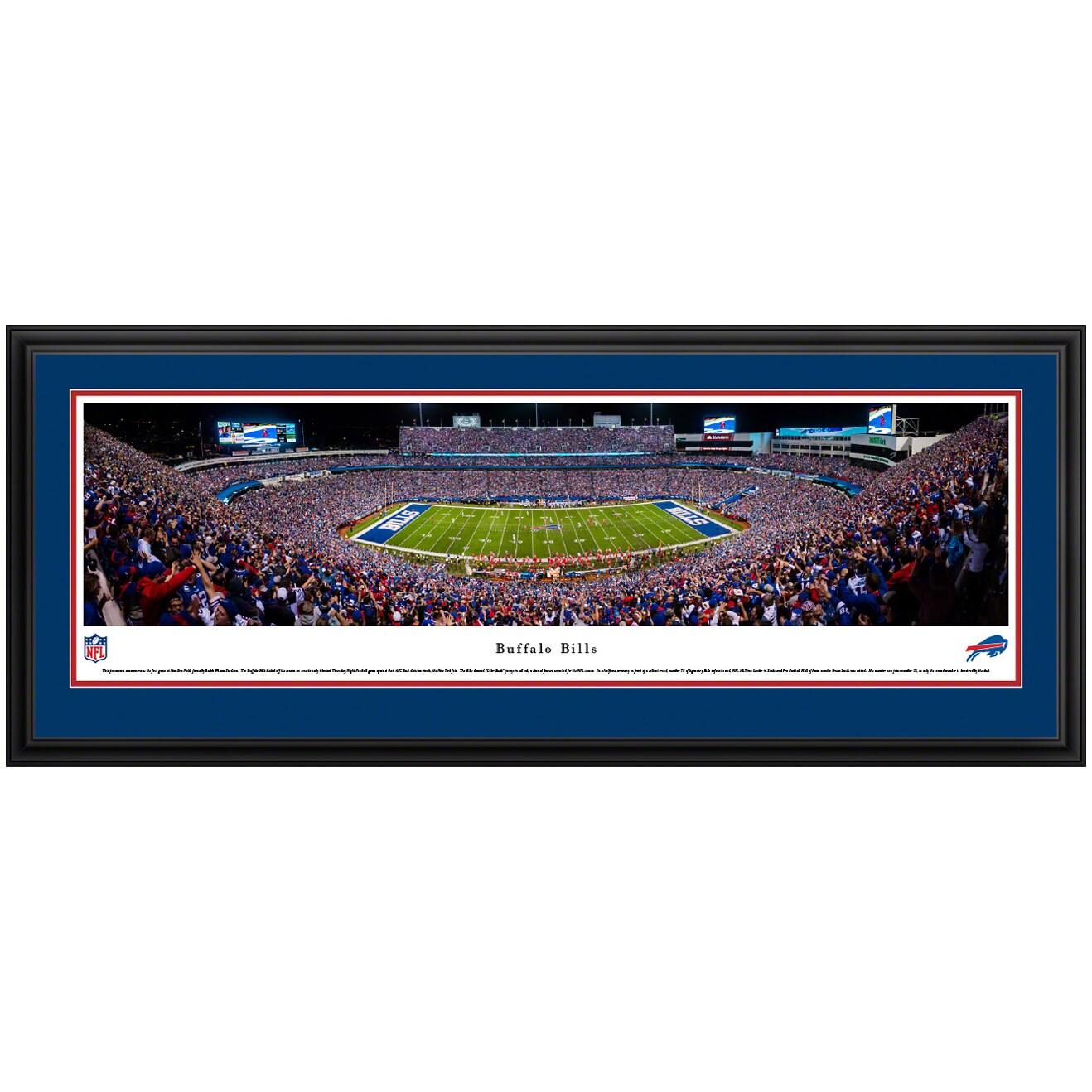 "Buffalo Bills 44"" x 18"" Deluxe Frame Panoramic Photo"