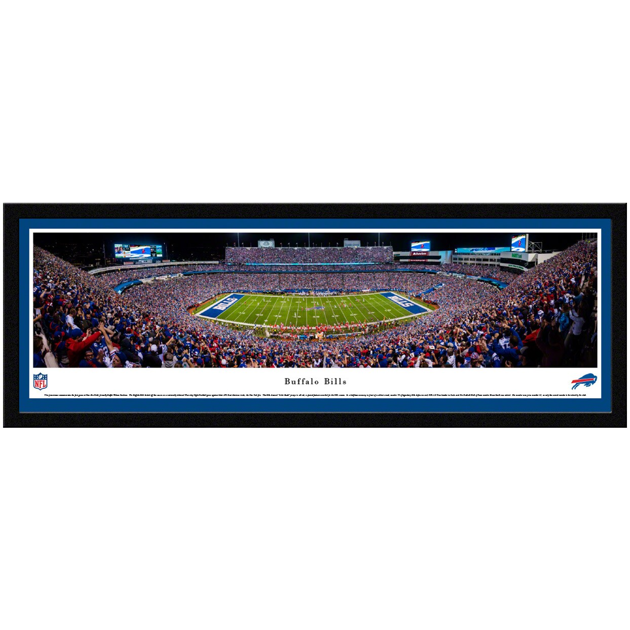 "Buffalo Bills 42"" x 15.5"" Select Frame Panoramic Photo"