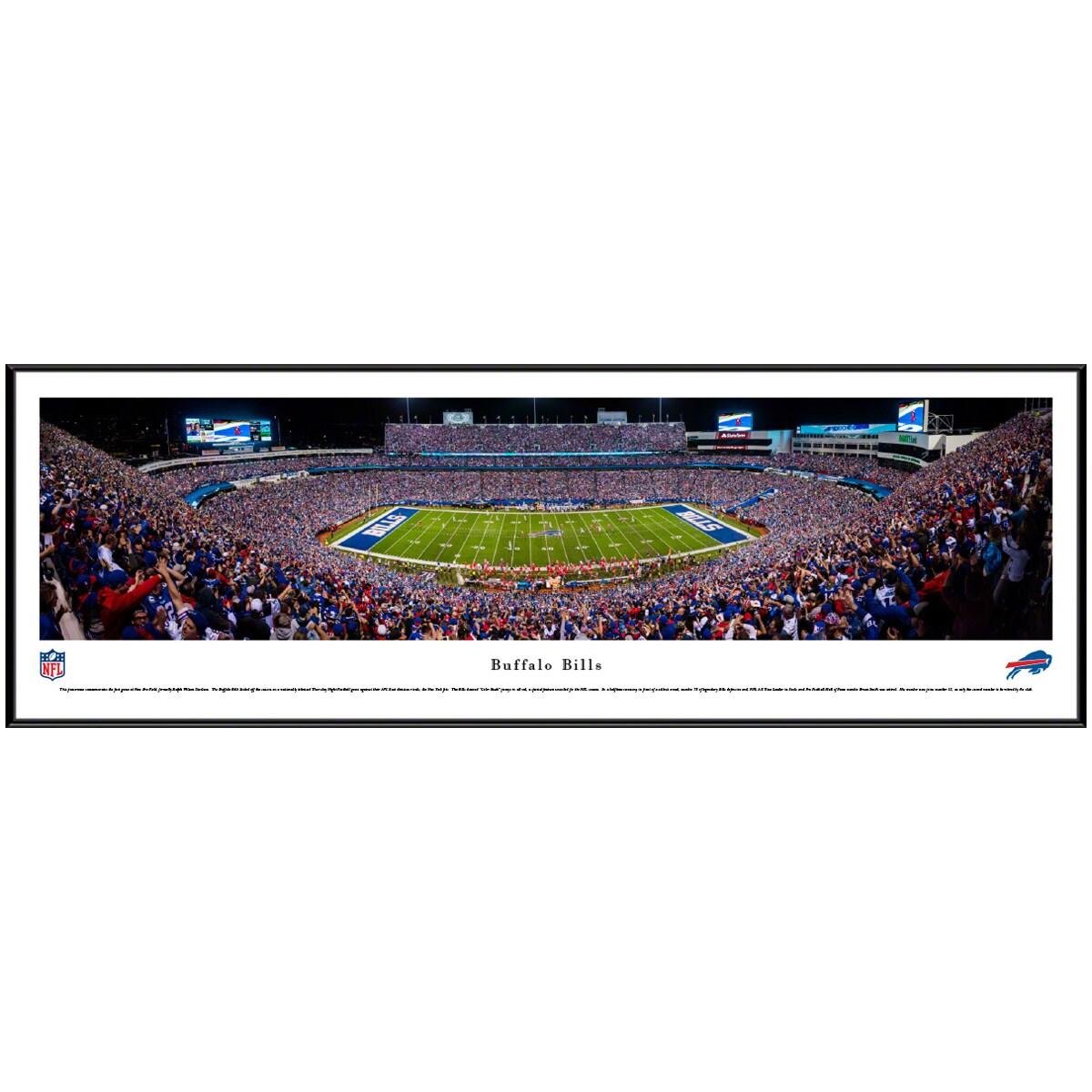 "Buffalo Bills 40.25"" x 13.75"" Standard Frame Panoramic Photo"