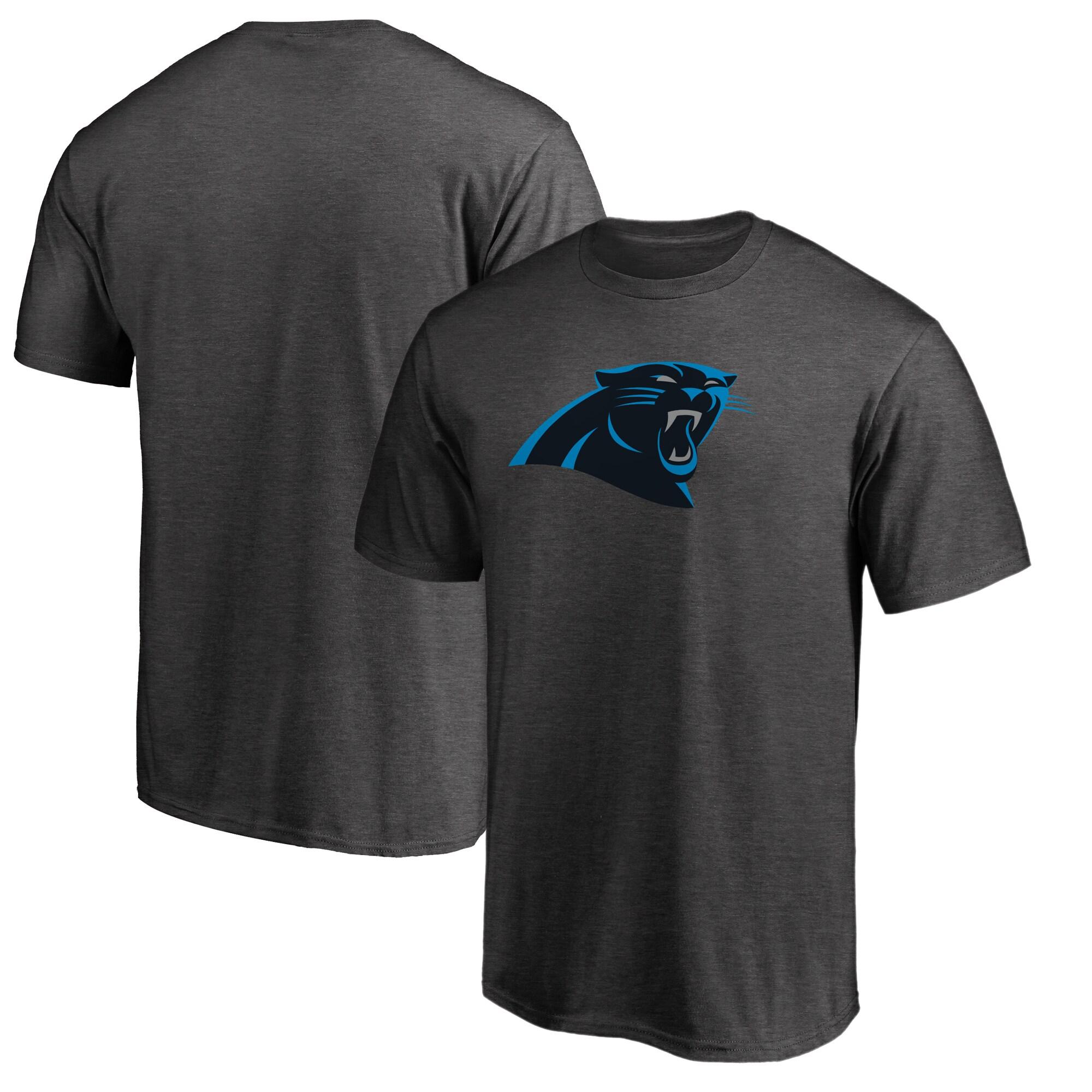 Carolina Panthers NFL Pro Line by Fanatics Branded Primary Logo Big & Tall T-Shirt - Heathered Gray