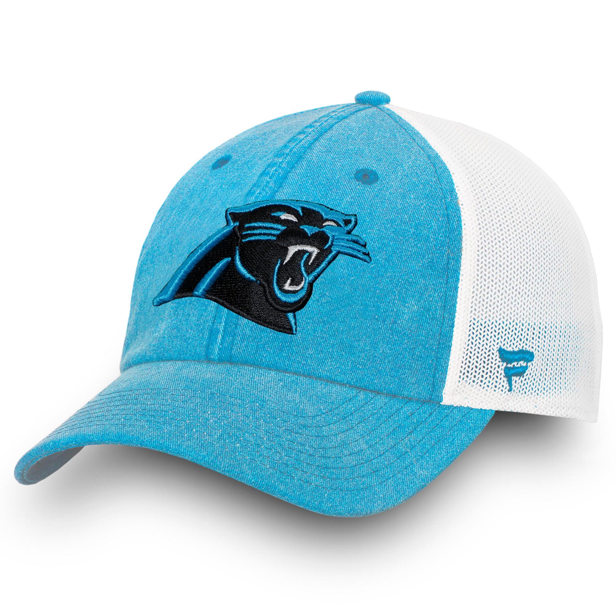 Carolina Panthers NFL Pro Line by Fanatics Branded Timeless Fundamental Adjustable Trucker Hat - Blue/White