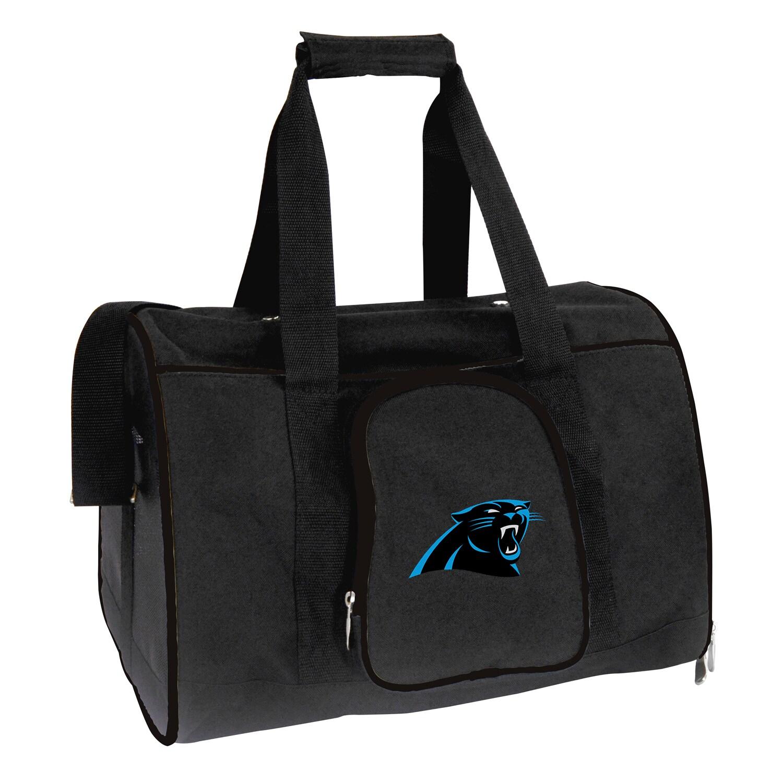 """Carolina Panthers Small 16"""" Pet Carrier - Black"""