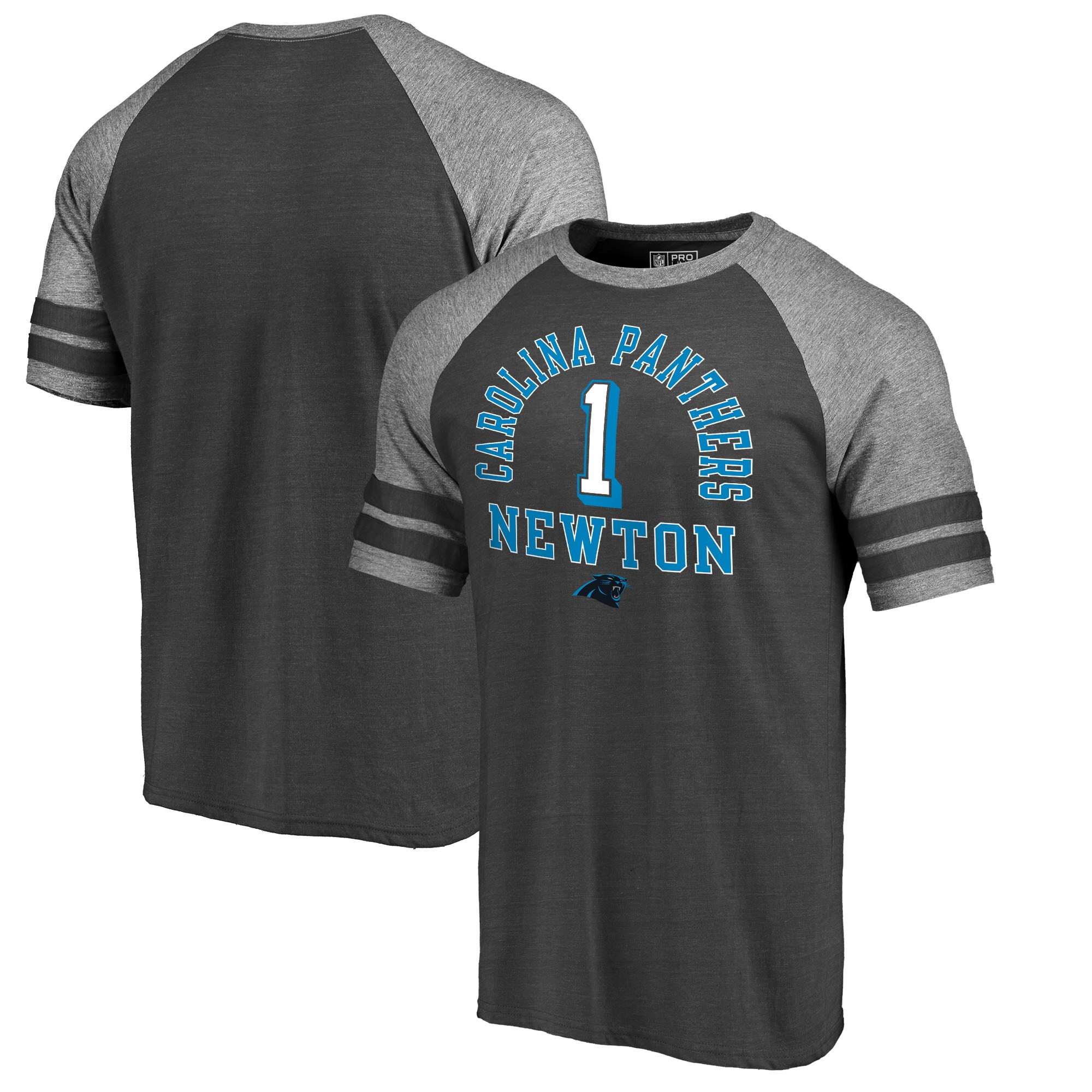 Cam Newton Carolina Panthers NFL Pro Line by Fanatics Branded Team Elite Tri-Blend T-Shirt - Black