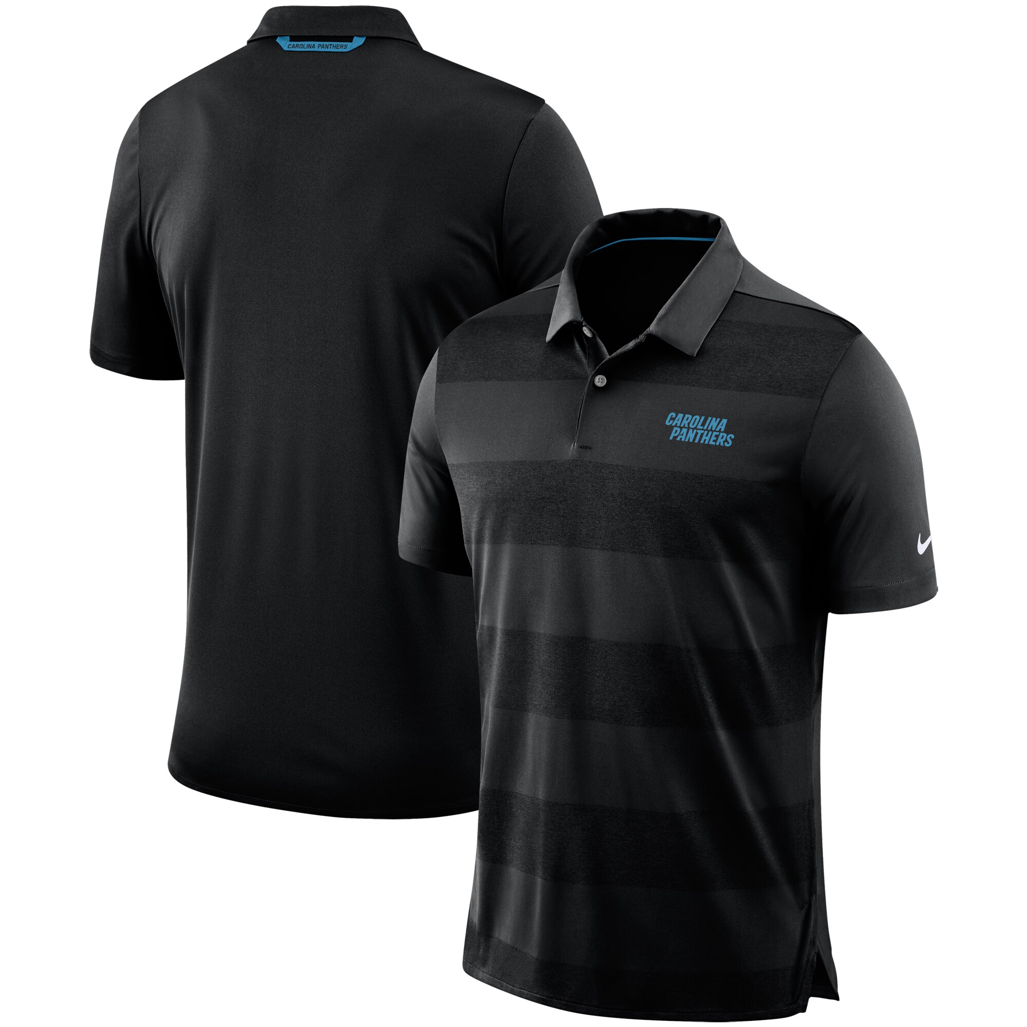 Carolina Panthers Nike Sideline Early Season Wordmark Performance Polo - Black