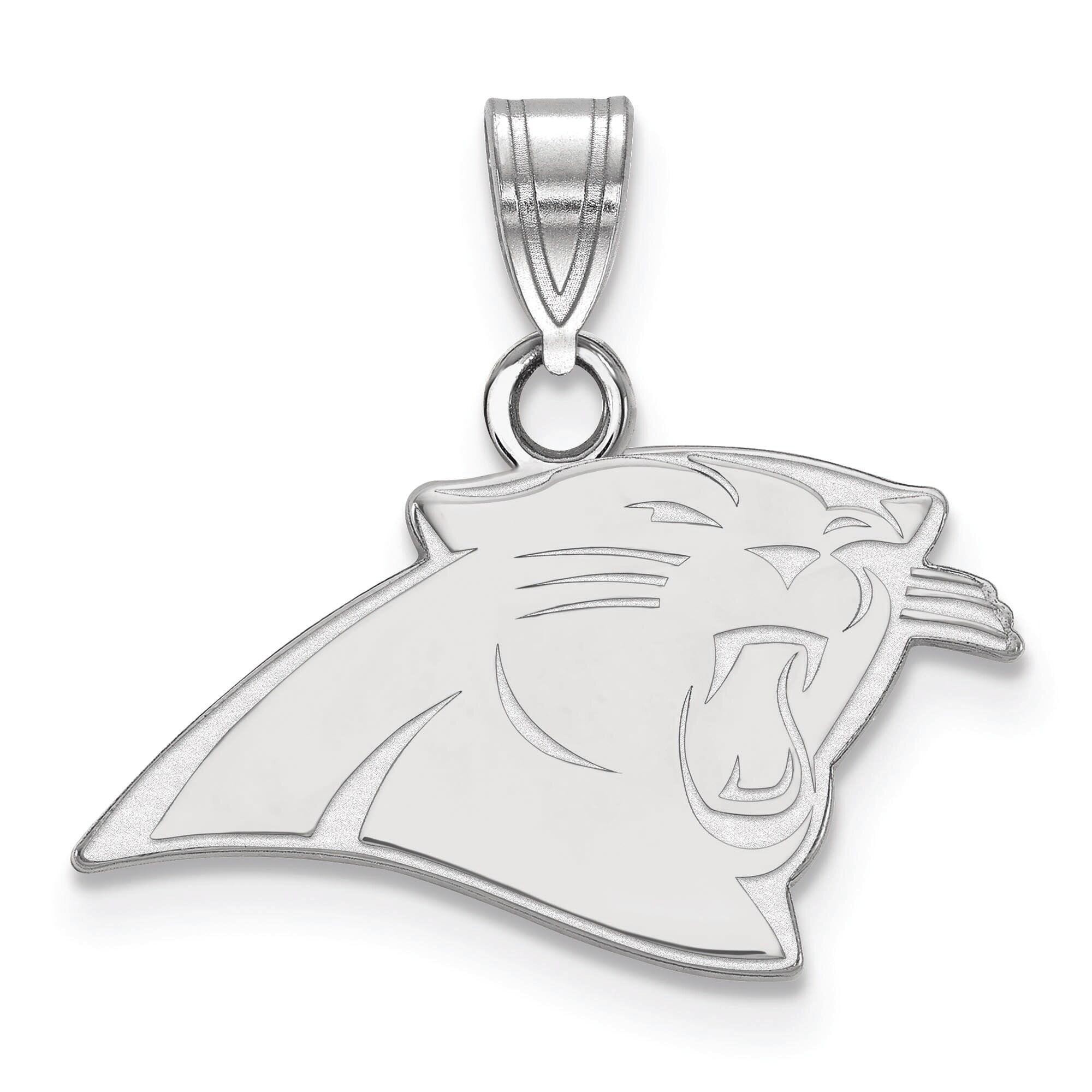 Carolina Panthers Women's Silver Small Pendant