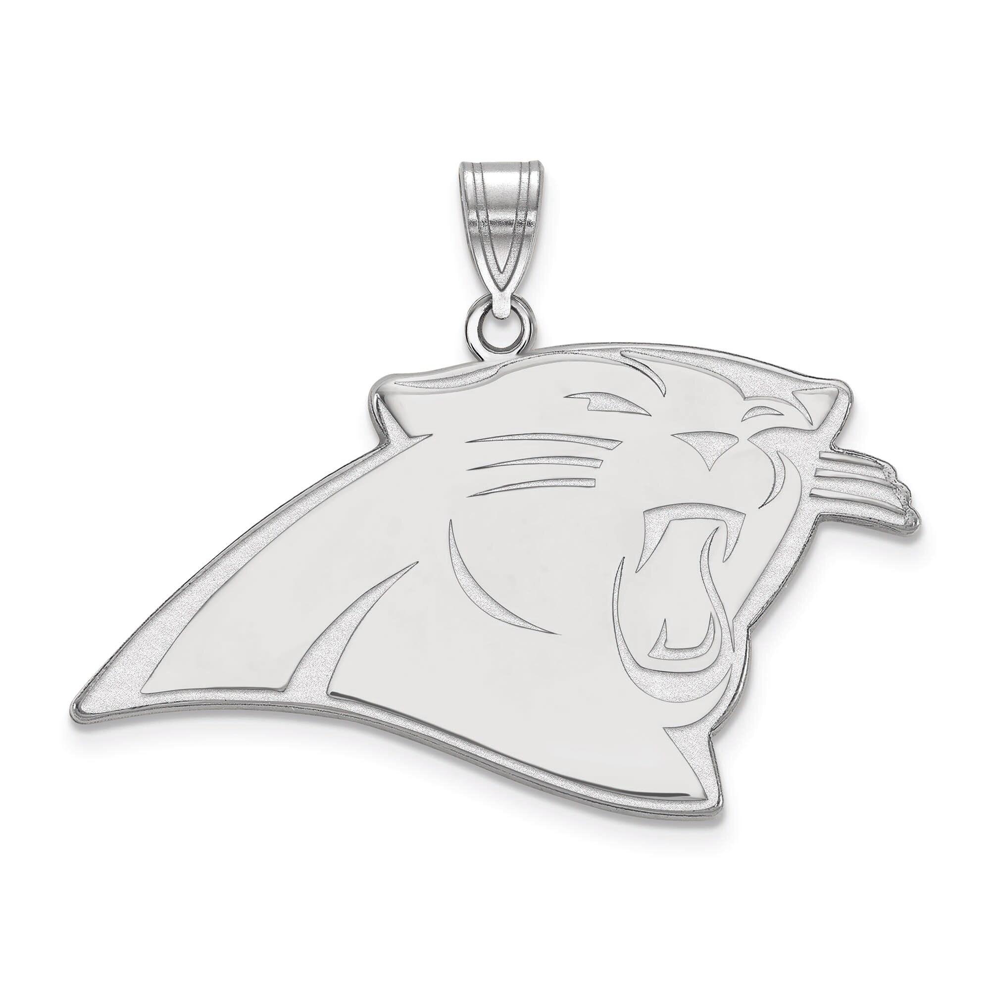 Carolina Panthers Women's Sterling Silver XL Pendant