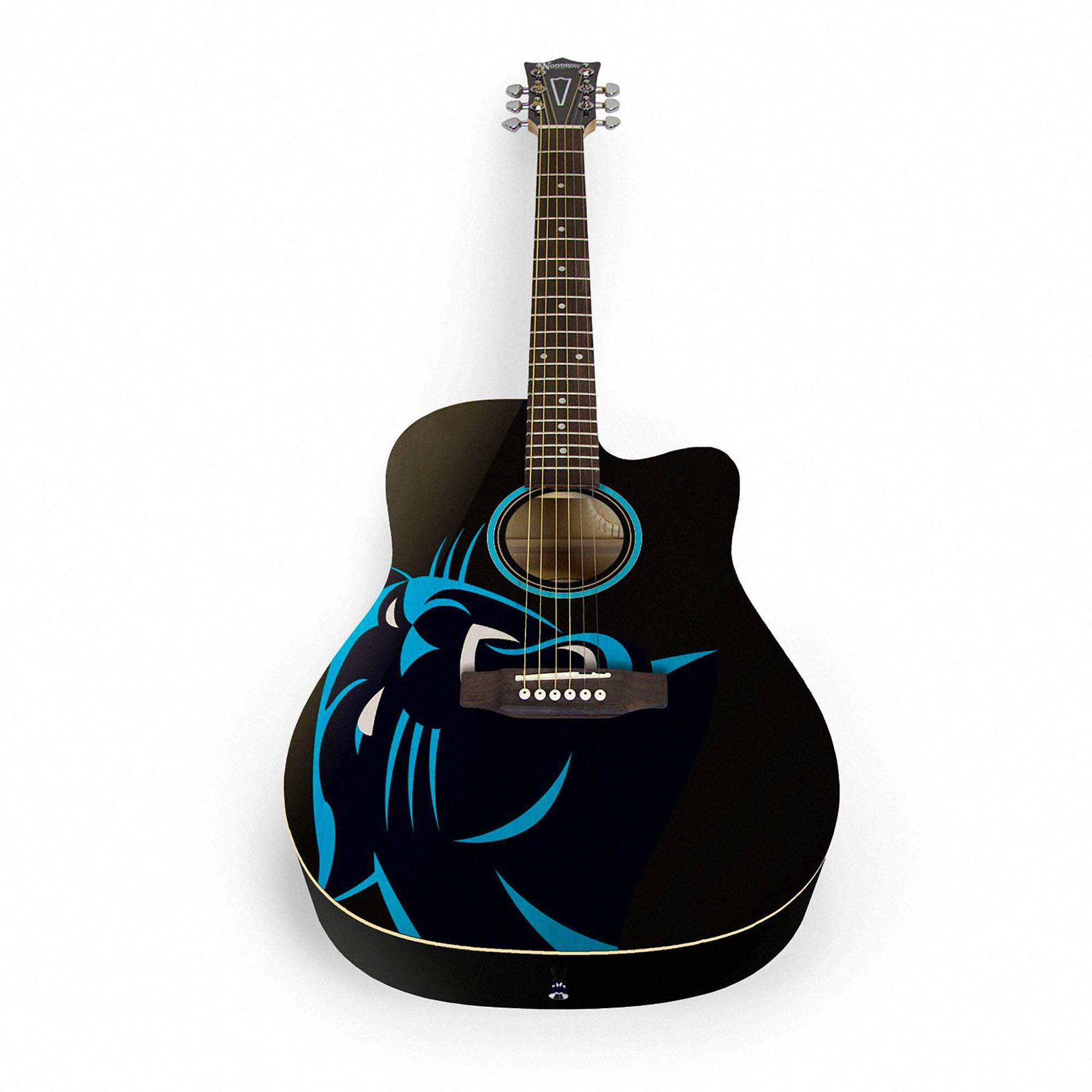 Carolina Panthers Woodrow Acoustic Guitar