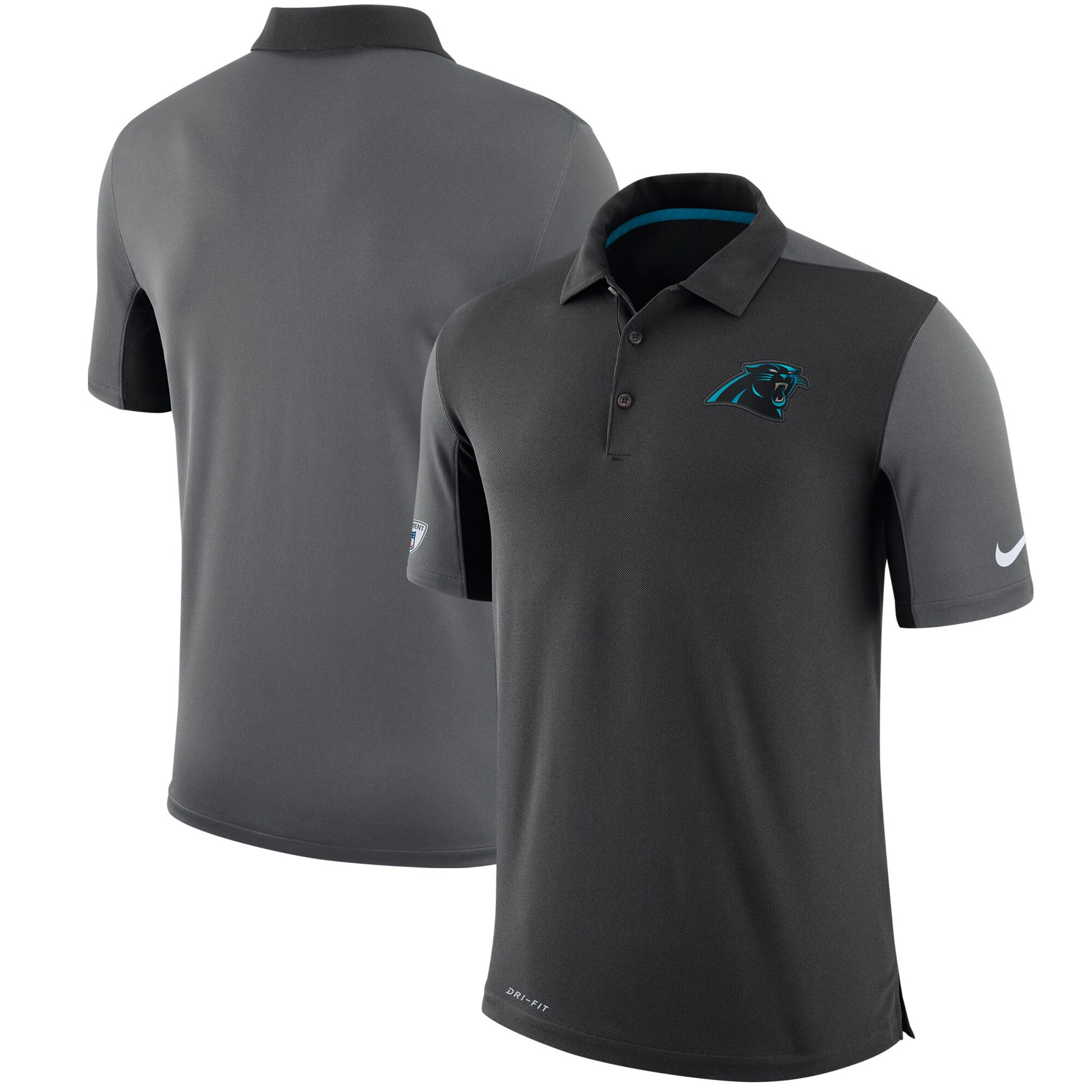 Carolina Panthers Nike Sideline Team Issue Logo Performance Polo - Charcoal