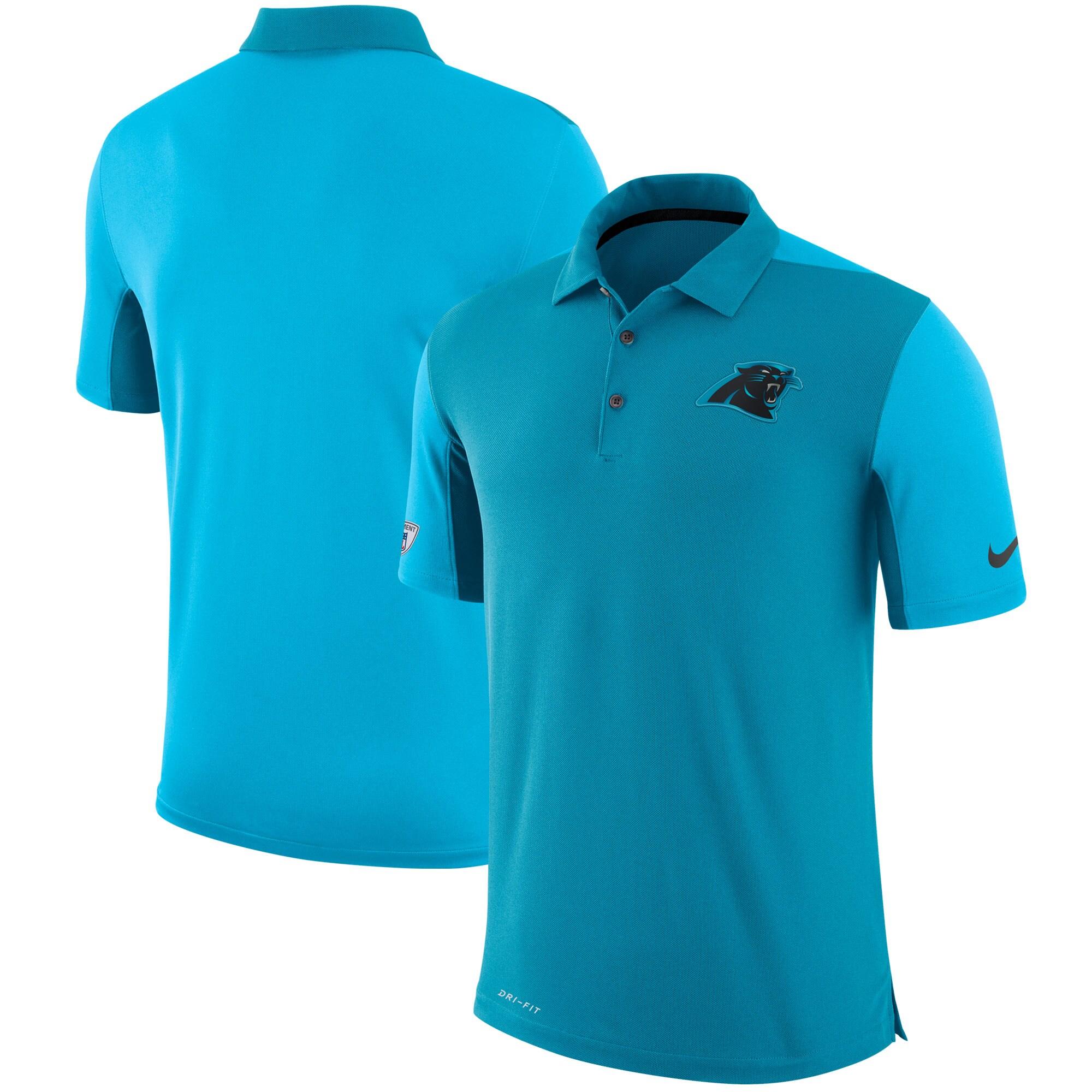 Carolina Panthers Nike Sideline Team Issue Logo Performance Polo - Blue