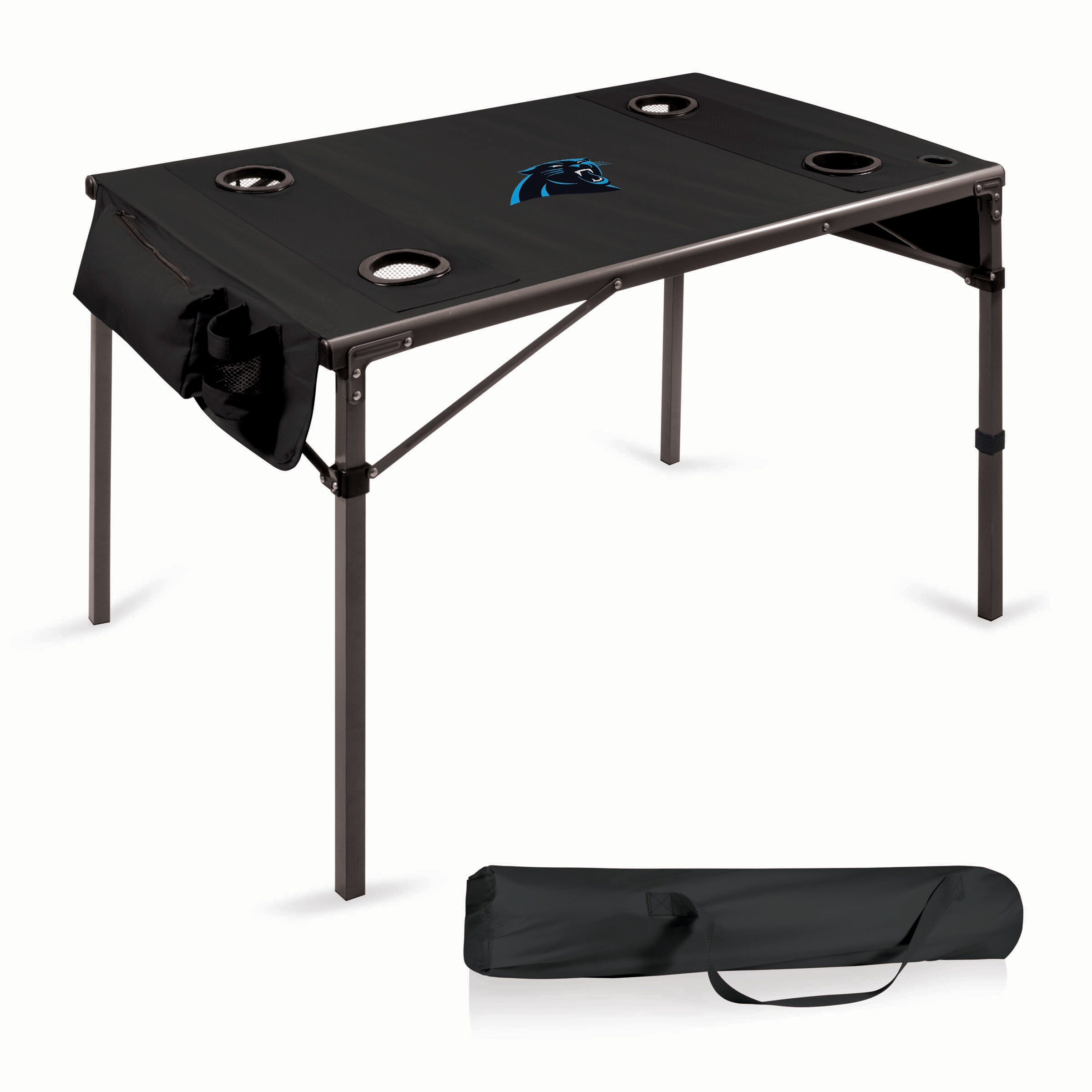 Carolina Panthers Portable Folding Travel Table - Black