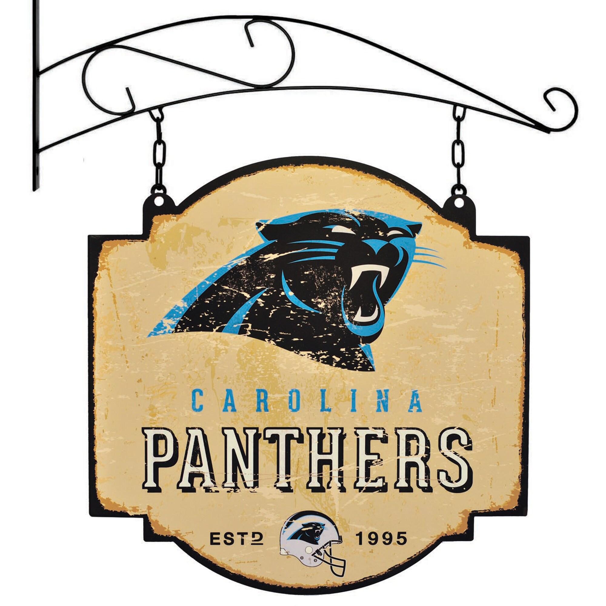 """Carolina Panthers 16"""" x 16"""" Tavern Sign - Cream"""