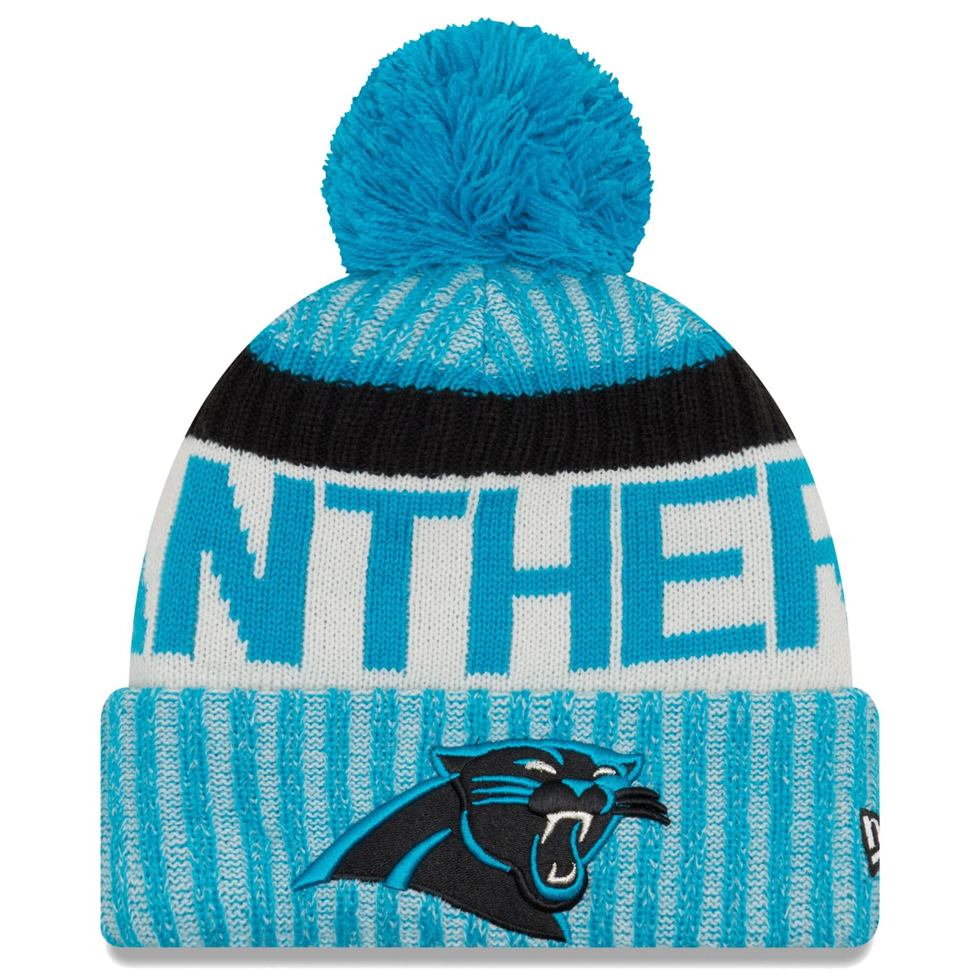 Carolina Panthers New Era 2017 Sideline Official Sport Knit Hat - Blue