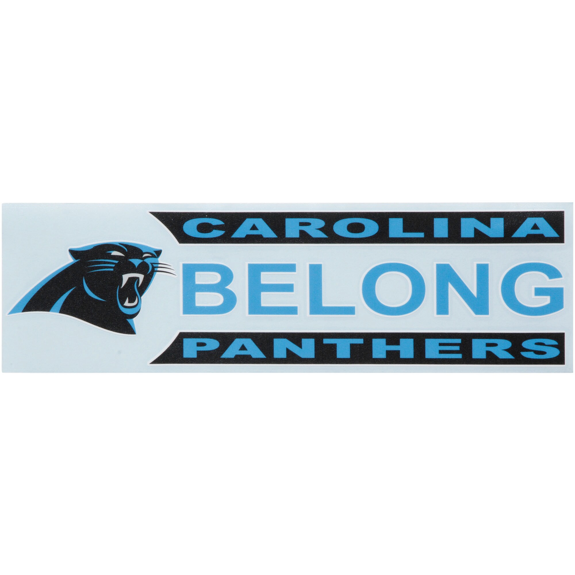 """Carolina Panthers 3"""" x 10"""" Xpression Full Color Decal"""