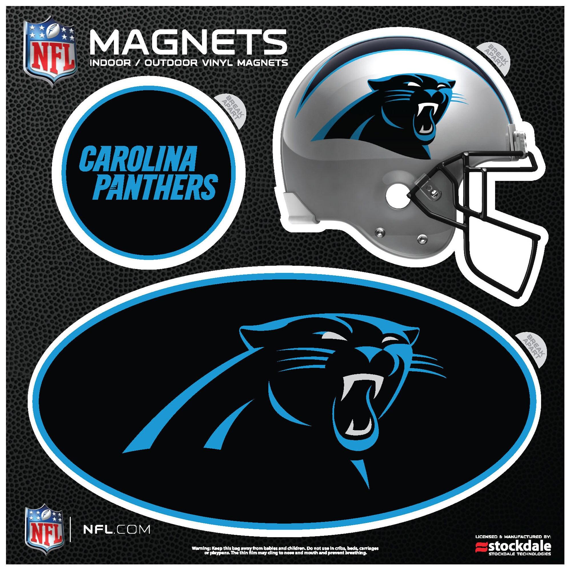 Carolina Panthers Indoor & Outdoor 3-Pack Magnet Set