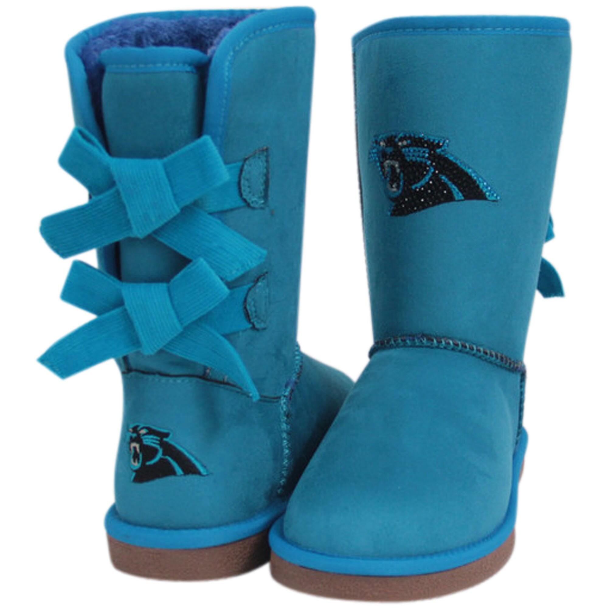 Carolina Panthers Cuce Women's Patron Bow Boots - Blue