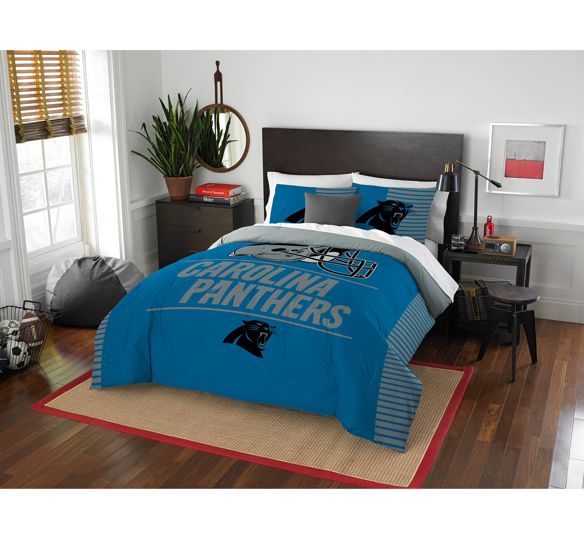 Carolina Panthers The Northwest Company NFL Draft Full/Queen Comforter Set