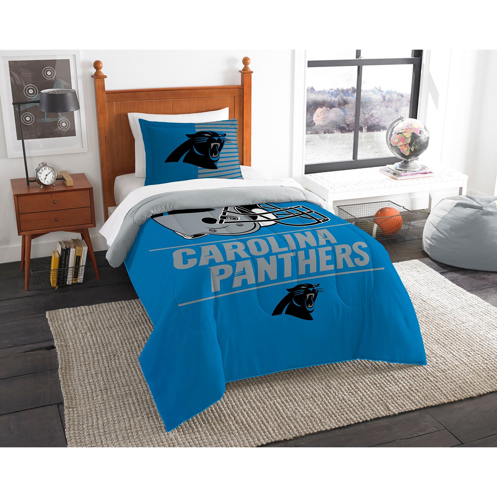 Carolina Panthers The Northwest Company NFL Draft Twin Comforter Set