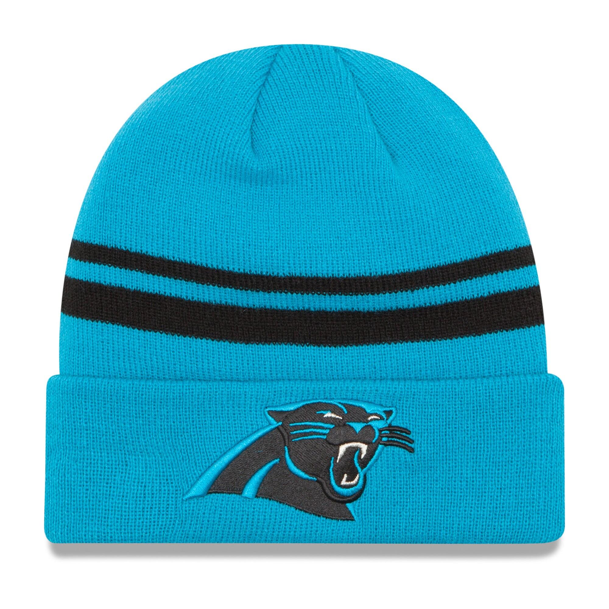 Carolina Panthers New Era Team Logo Cuffed Knit Hat - Blue