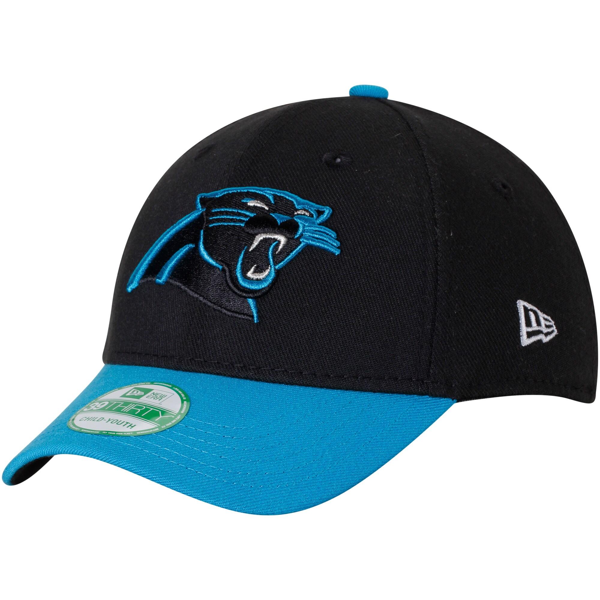 Carolina Panthers New Era Youth Team Classic 39THIRTY Flex Hat - Black/Blue