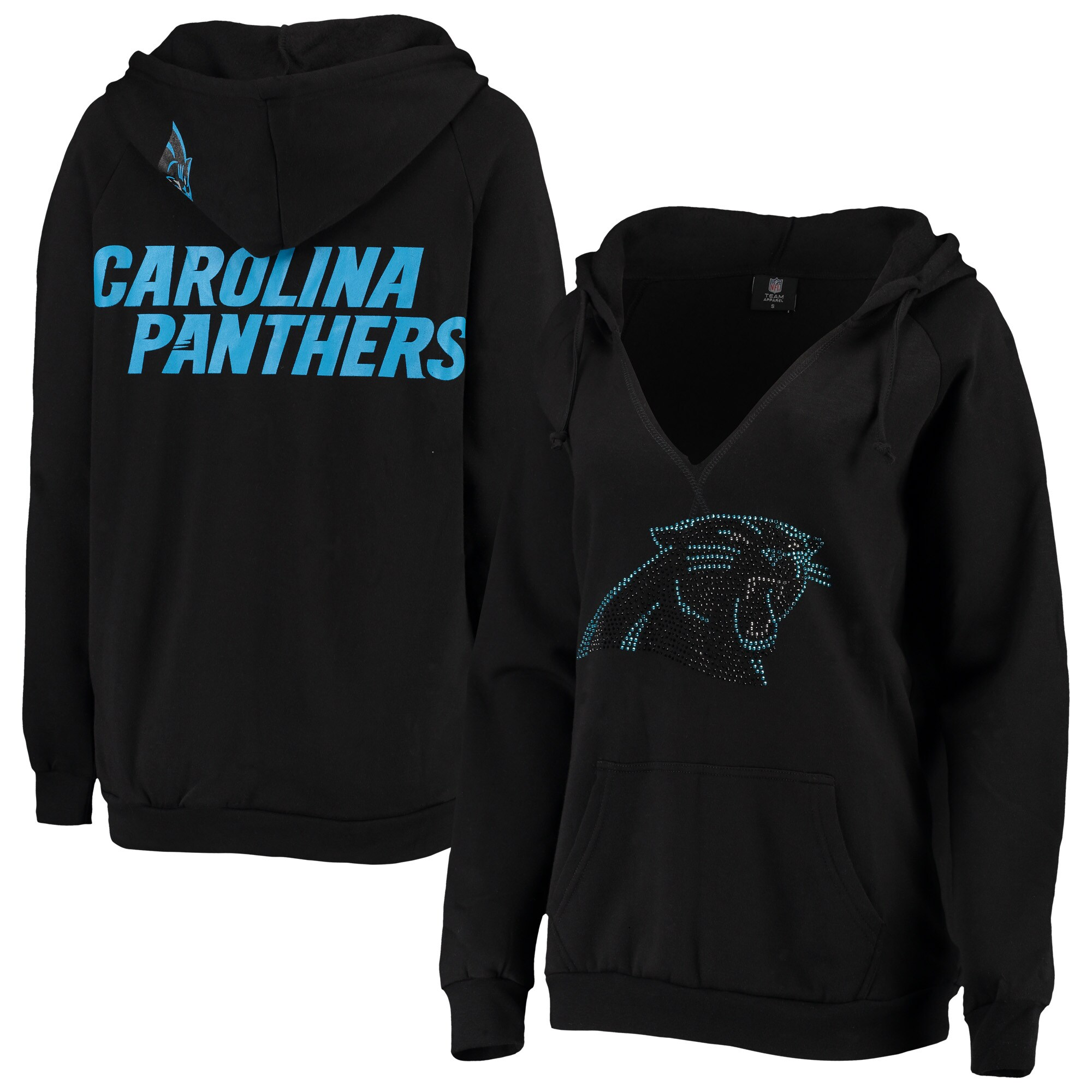 Carolina Panthers Cuce Women's Squad Pullover Hoodie - Black