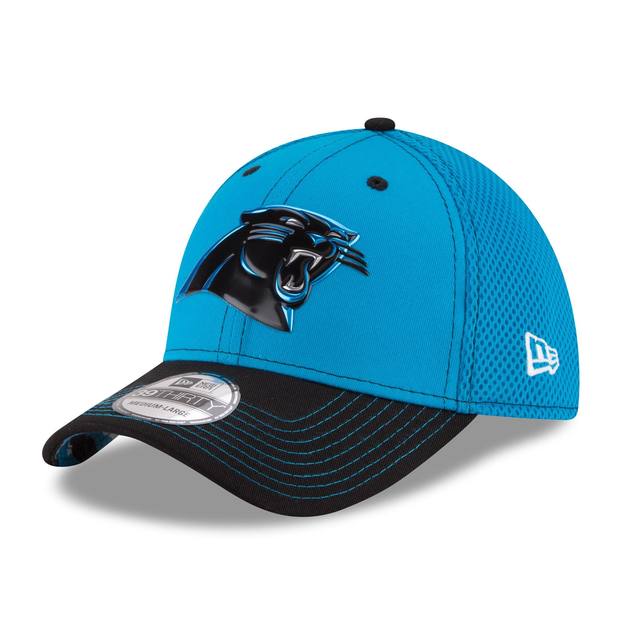 New Era Carolina Panthers Blue NFL Kickoff Neo 39THIRTY Flex Hat