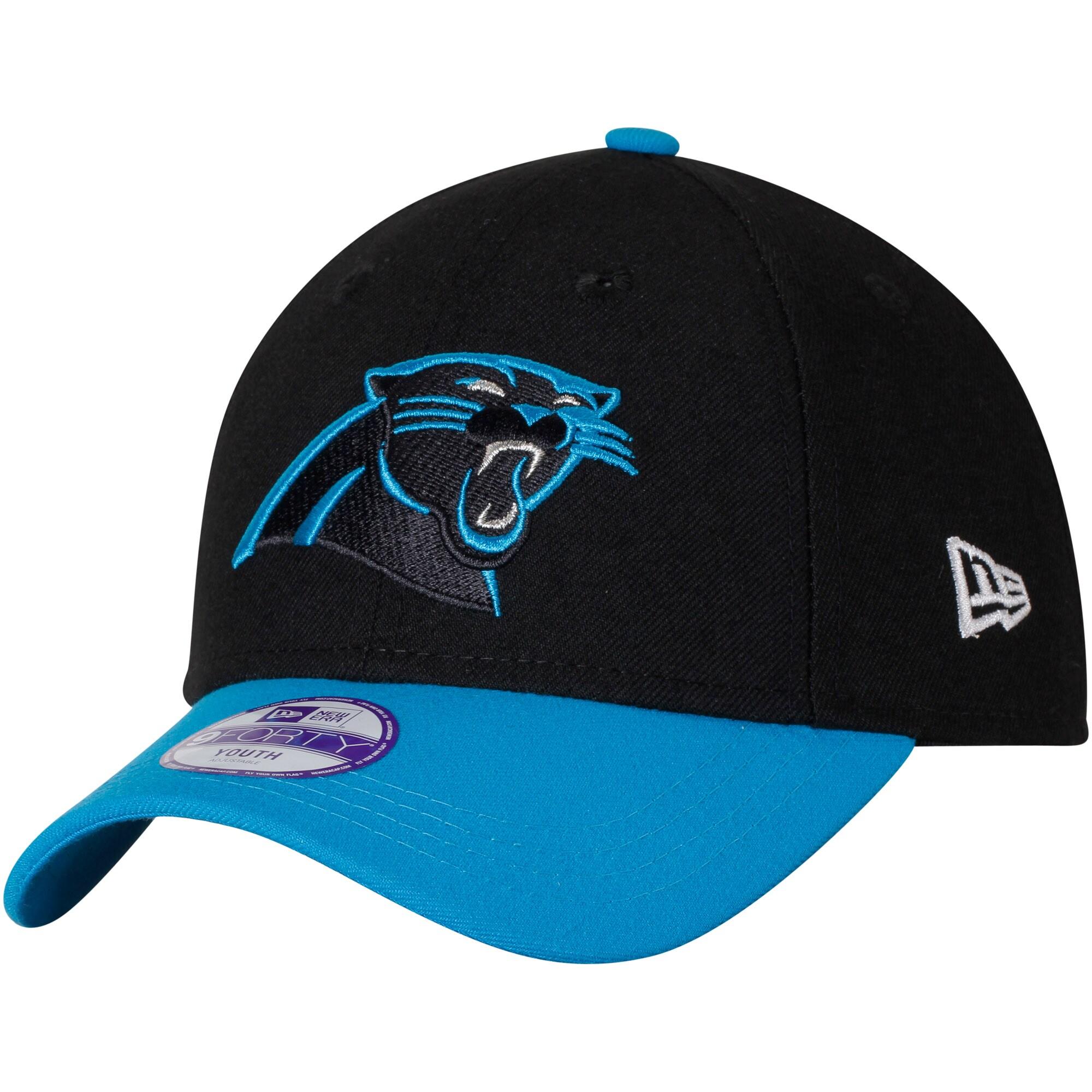 Carolina Panthers New Era Youth League 9FORTY Adjustable Hat - Black/Blue