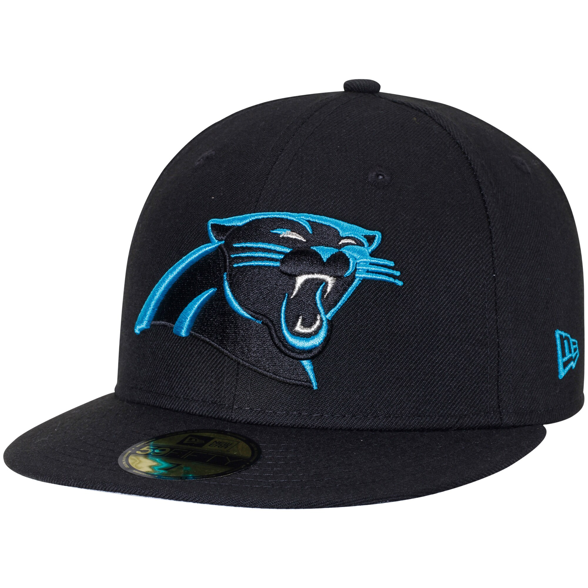 Carolina Panthers New Era Omaha 59FIFTY Fitted Hat - Black