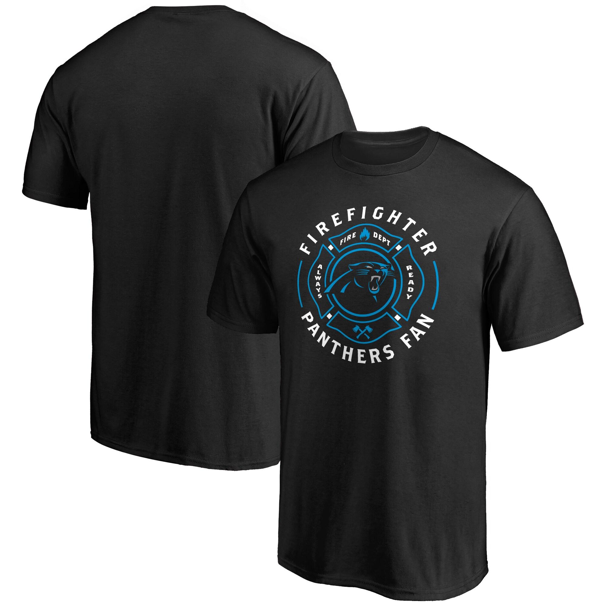 Carolina Panthers NFL Pro Line Black Firefighter T-Shirt
