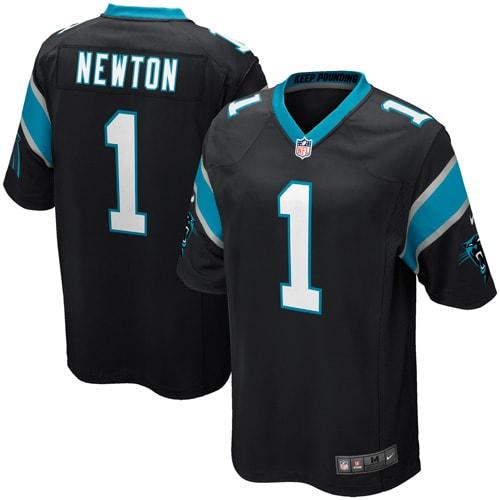 Cam Newton Carolina Panthers Nike Youth Team Color Game Jersey - Black