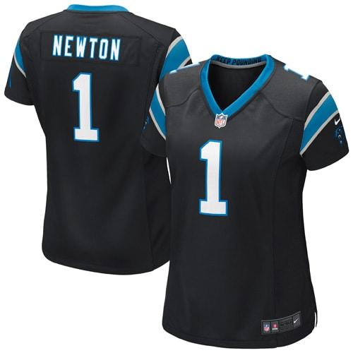 Cam Newton Carolina Panthers Nike Women's Game Jersey - Black
