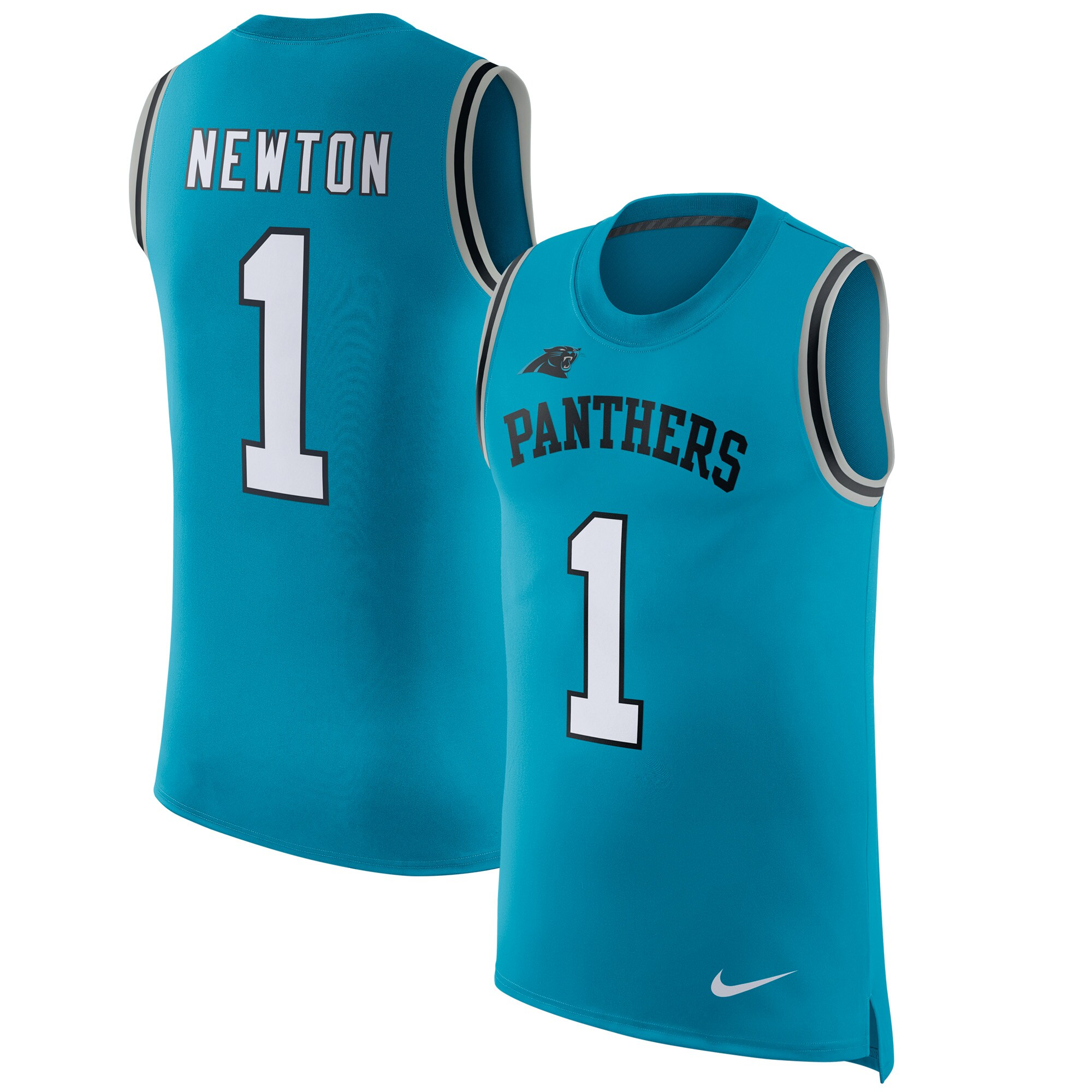 Cam Newton Carolina Panthers Nike Color Rush Player Name & Number Tank Top - Blue