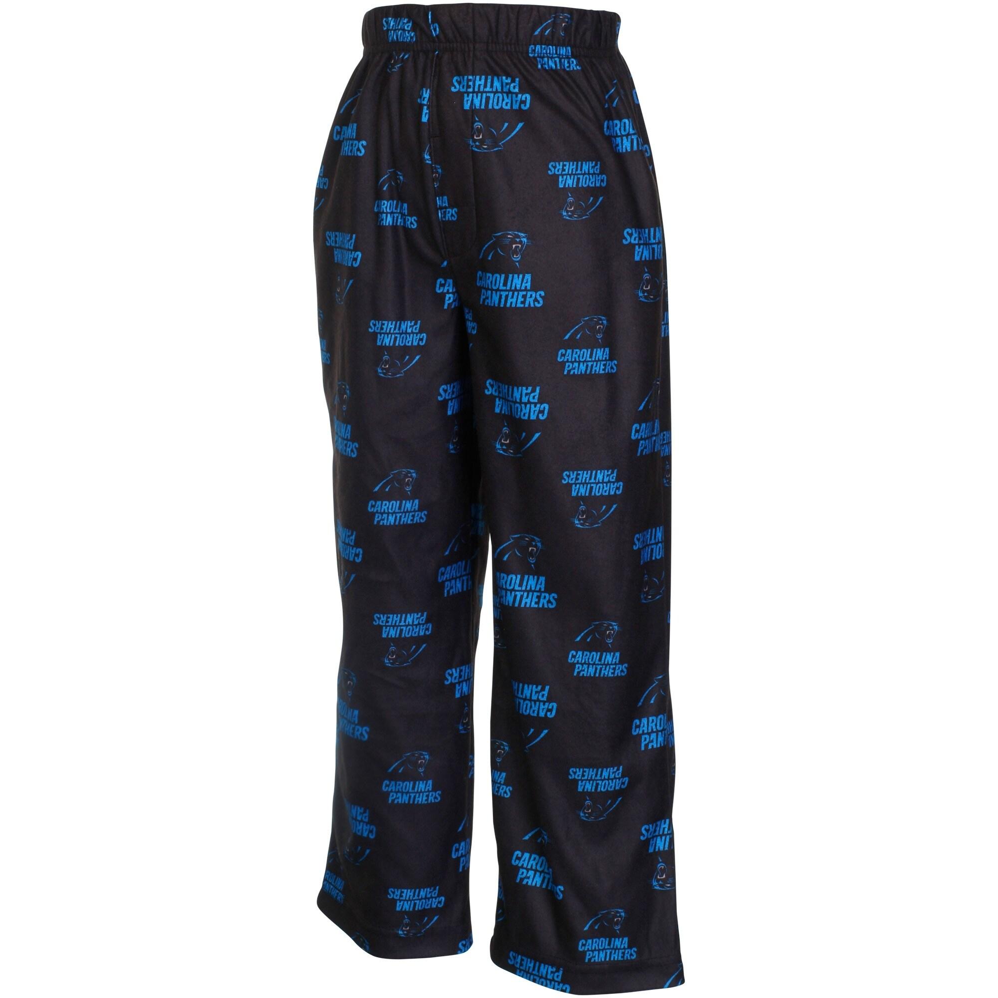 Carolina Panthers Preschool Allover Logo Printed Pants - Black