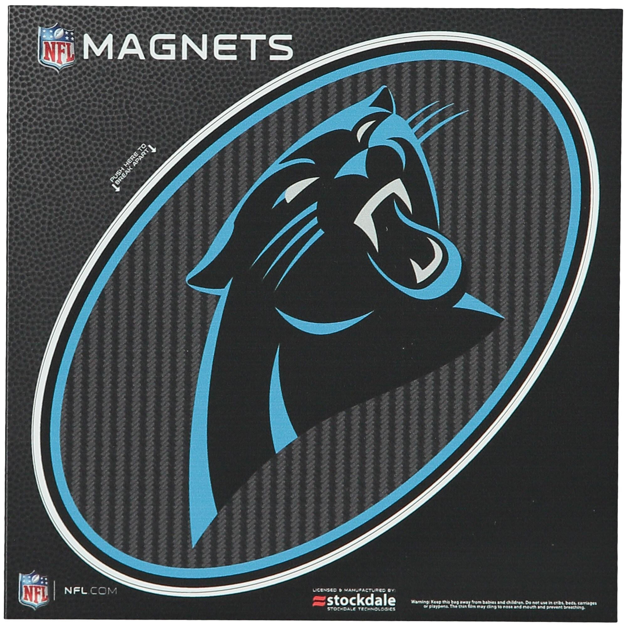 "Carolina Panthers Carbon 6"" x 6"" Oval Full Color Magnet"