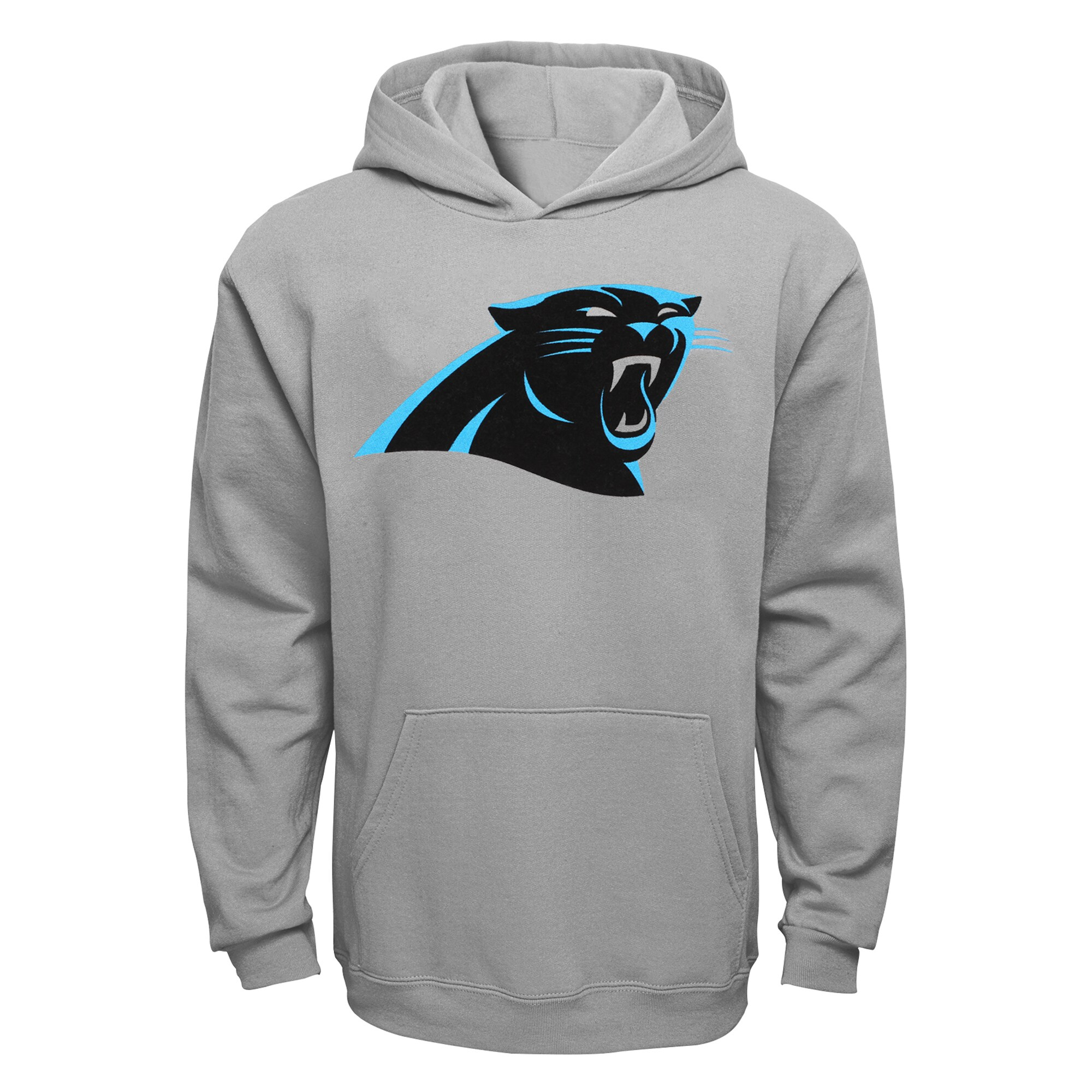 Carolina Panthers Youth Current Logo Pullover Hoodie - Gray