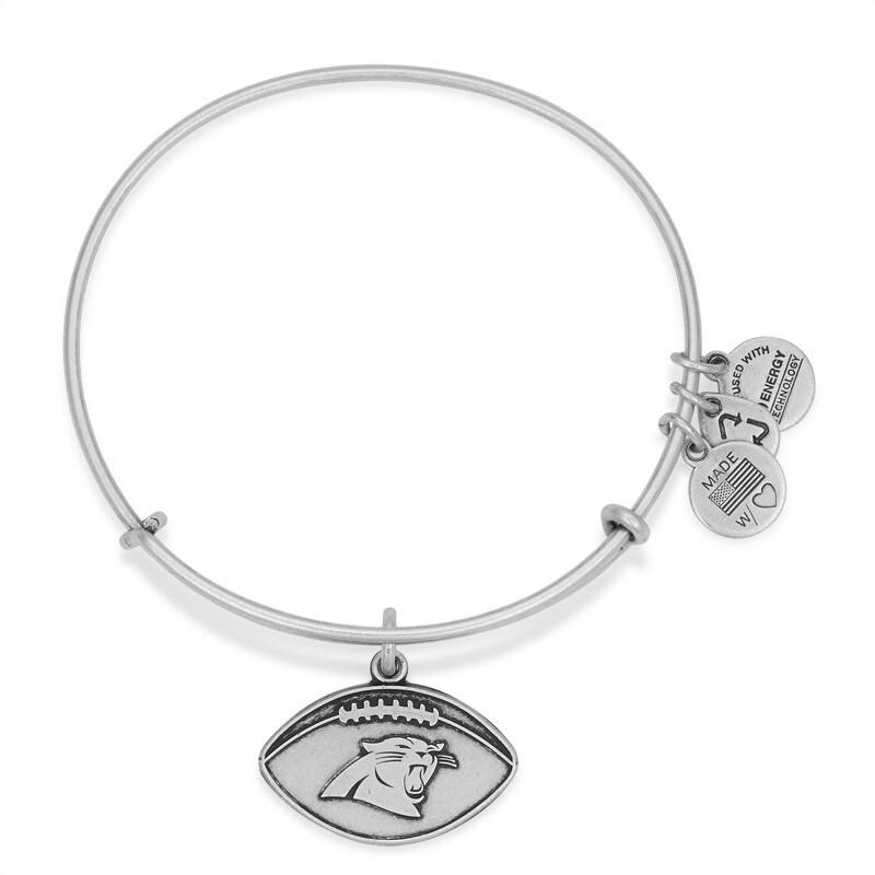 Carolina Panthers Alex and Ani Women's Logo Bracelet - Silver