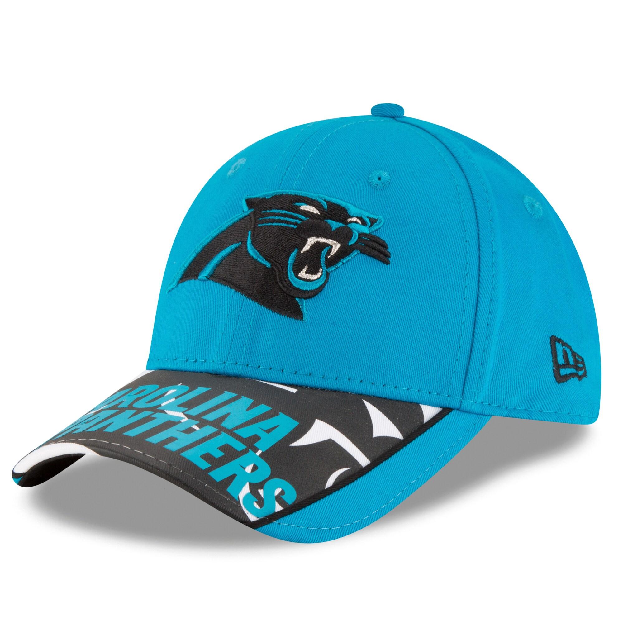 Carolina Panthers New Era Logo Scramble 9FORTY Adjustable Hat - Blue