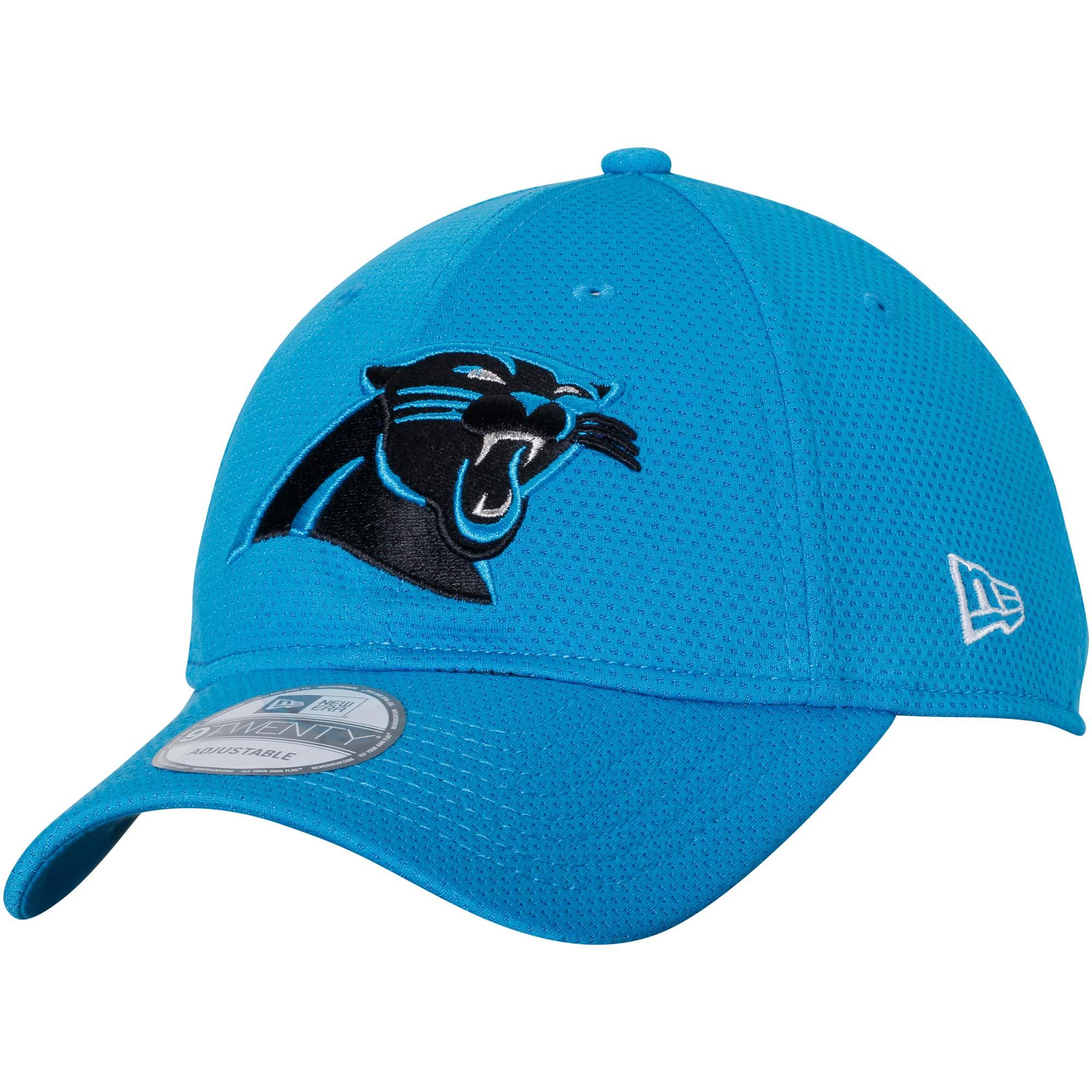 Carolina Panthers New Era Perf Shore Training Mesh 9TWENTY Adjustable Hat - Blue